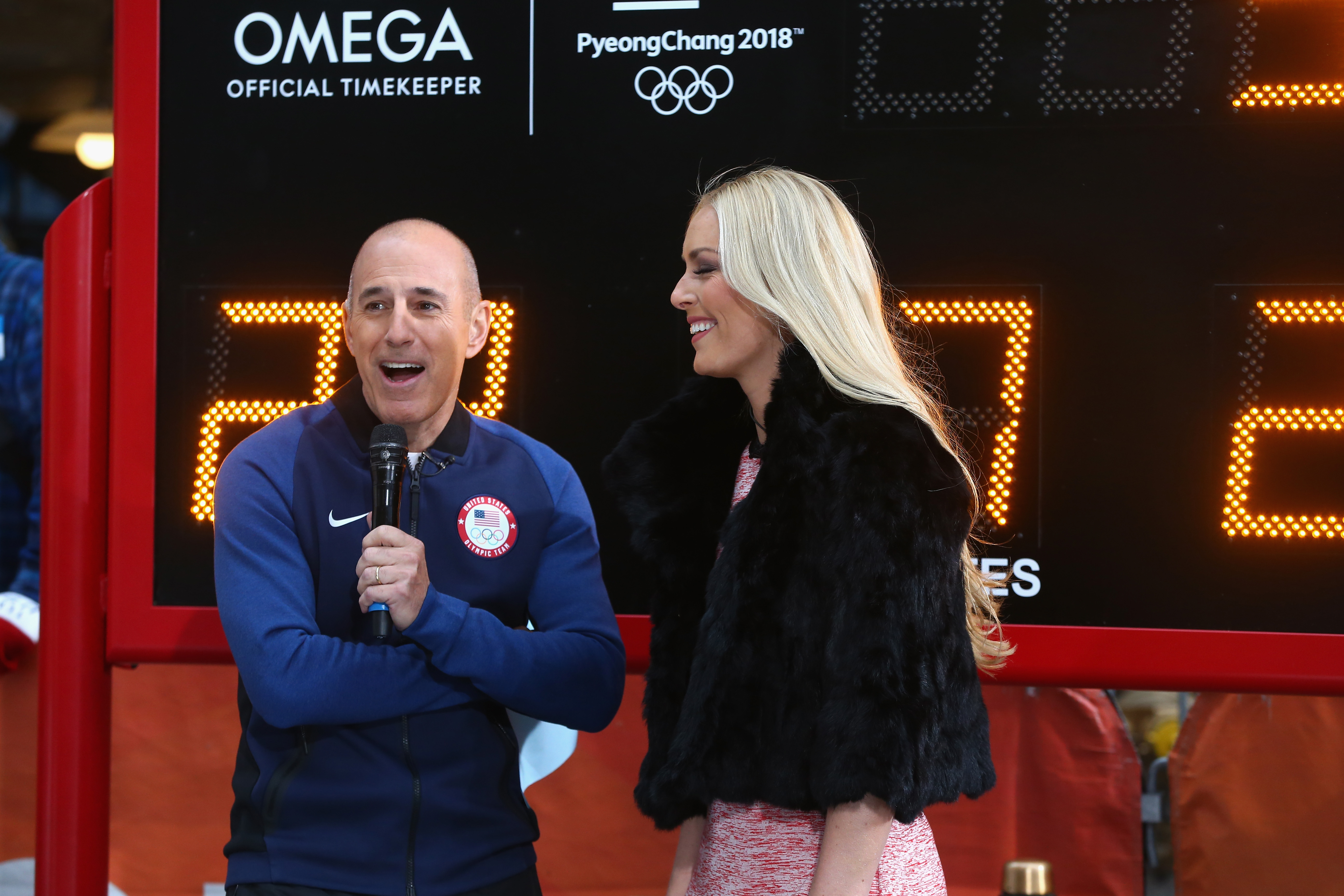 Matt Lauer laughs in interview with Lindsey Vonn