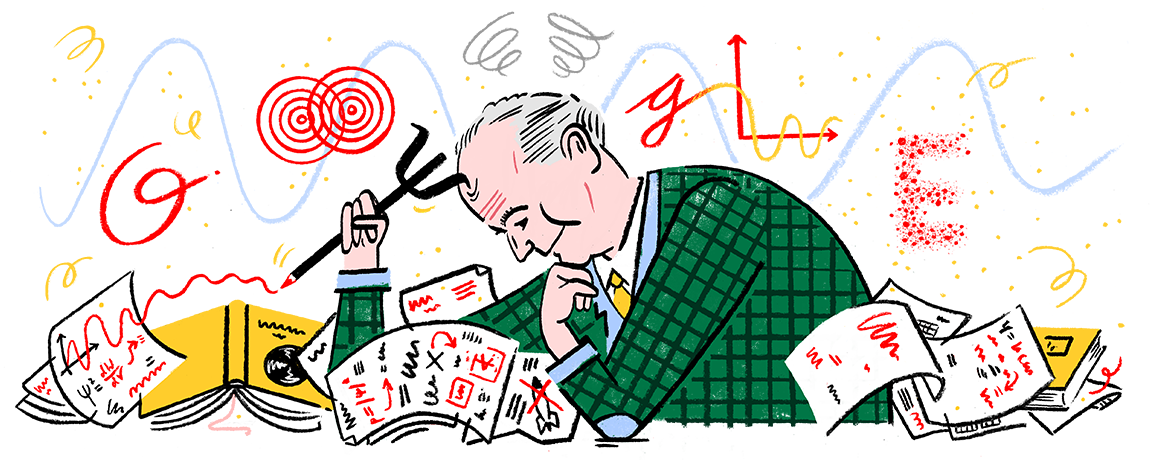 A Google Doodle depicting German physicist Max Born appeared on the search website on Dec. 11, 2017 to recognize the Nobel Prize laureate's 135th birthday.