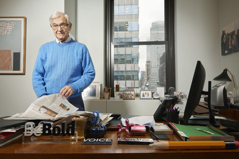 Alan Patricof photographed in his Manhattan office Nov 16, 2017
