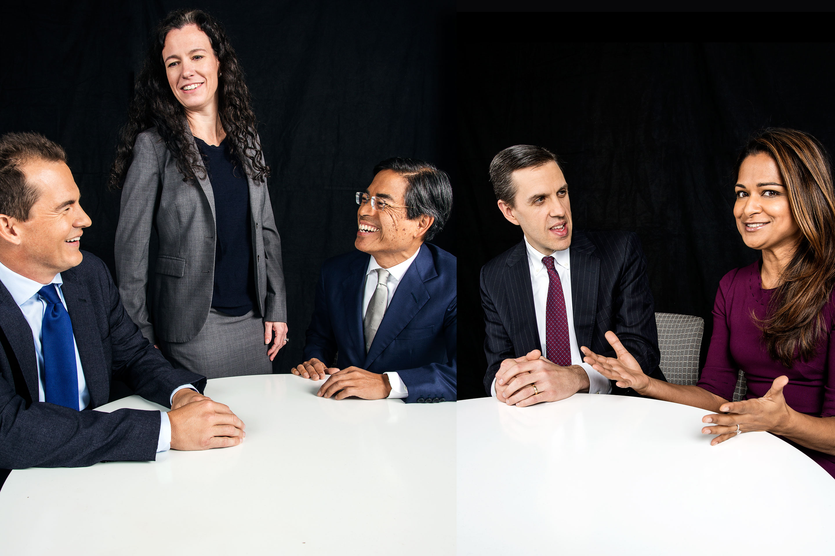 Fotune's 2018 Investors Roundtable, from left, includes: Byron Detter, Kera Van Valen; Dan Chung, David Giroux and Savita Subramanian.