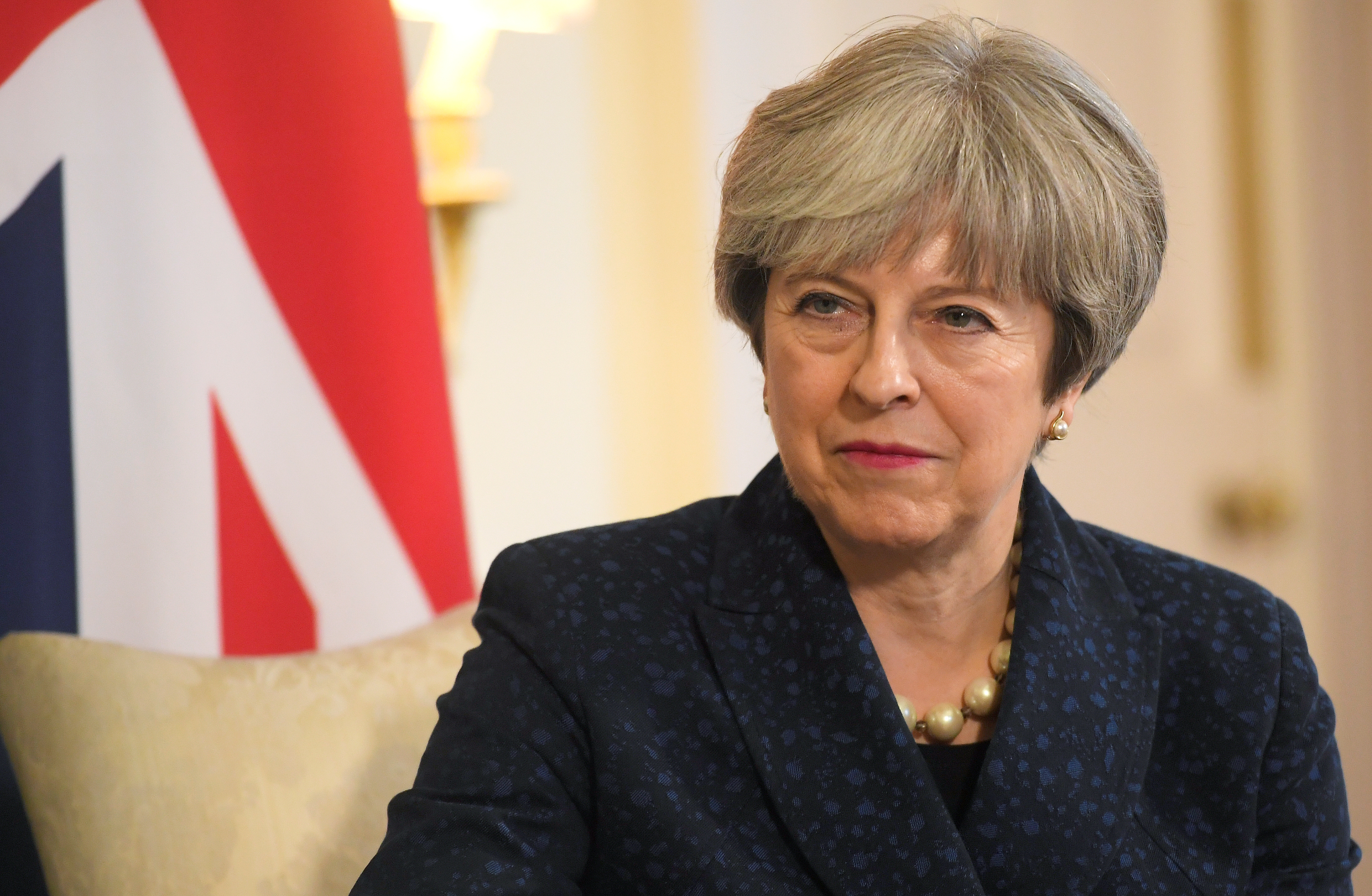 Britain's Prime Minister Theresa May meets the Prime Minister of Bulgaria, Boyko Borissov, at 10 Downing Street in London