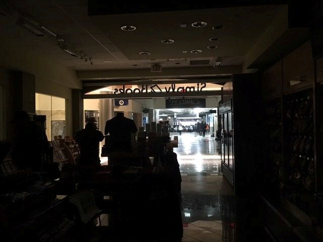 The Atlanta's airport is pictured during the power outage, in Atlanta