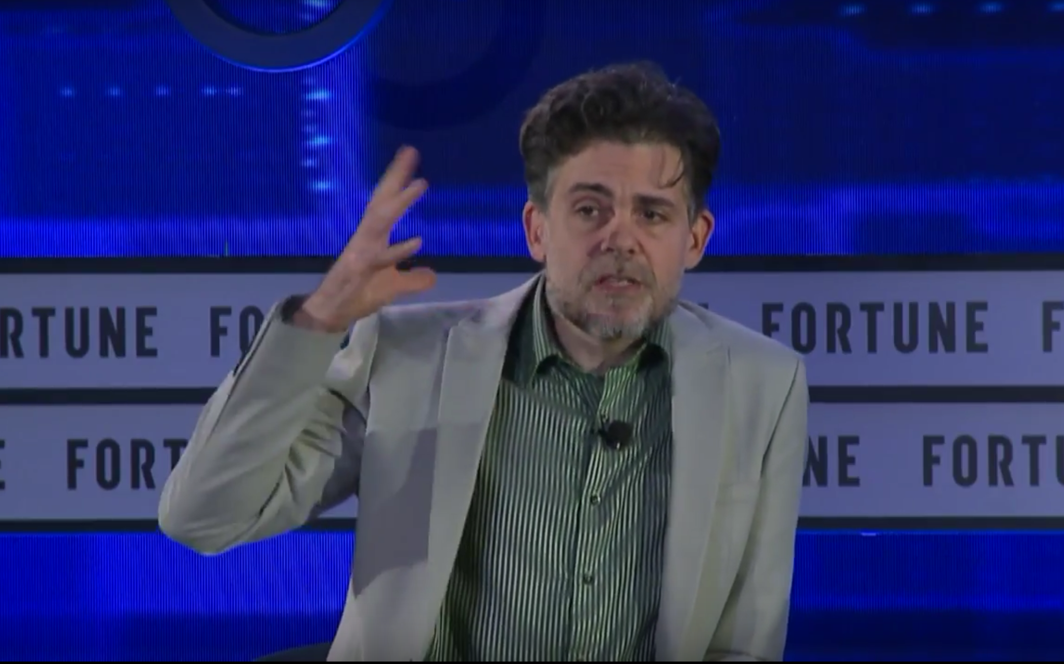 Hanson Robotics founder David Hanson speaks at the Fortune Brainstorm Tech International conference.
