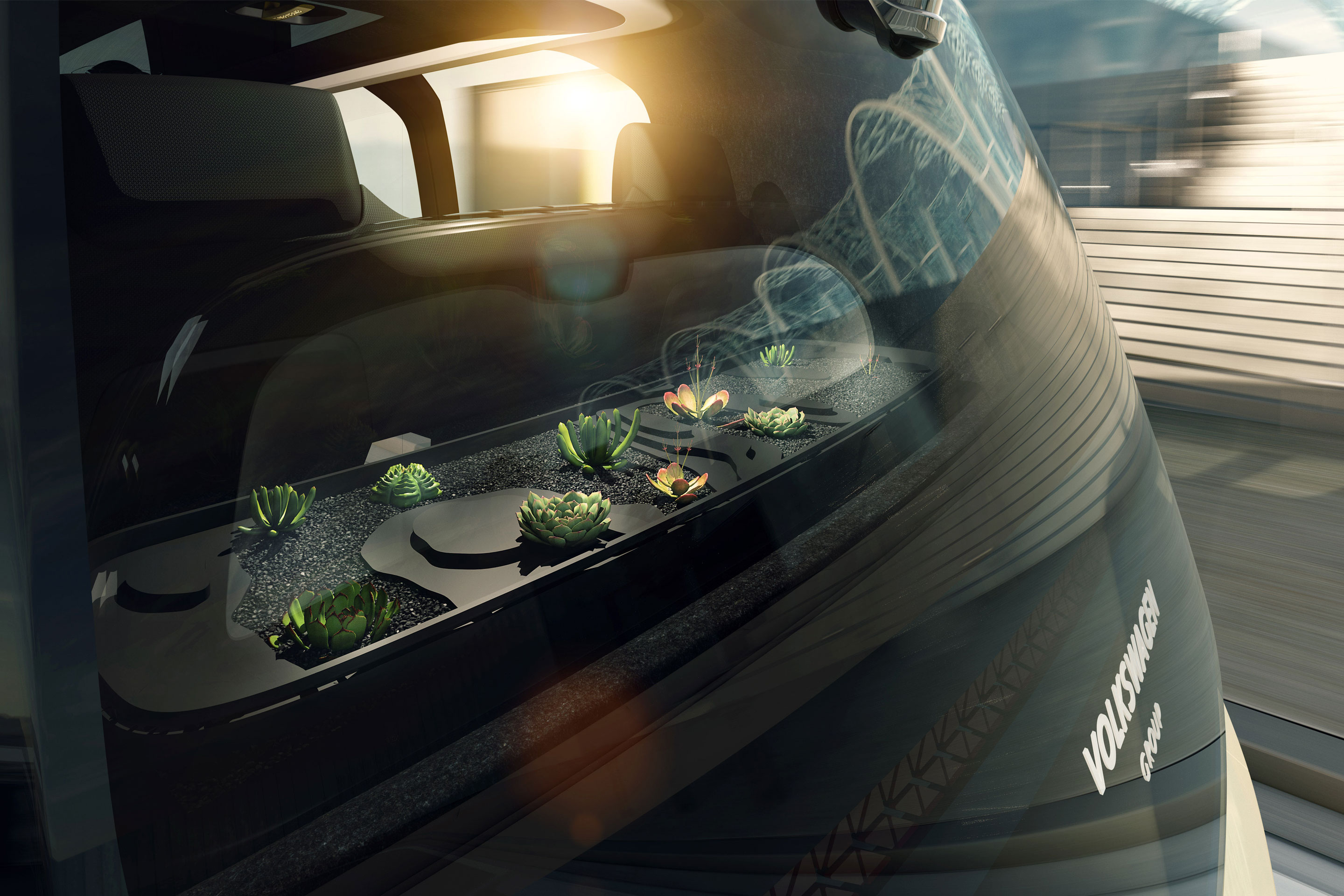 Sedric prototype includes space for plants