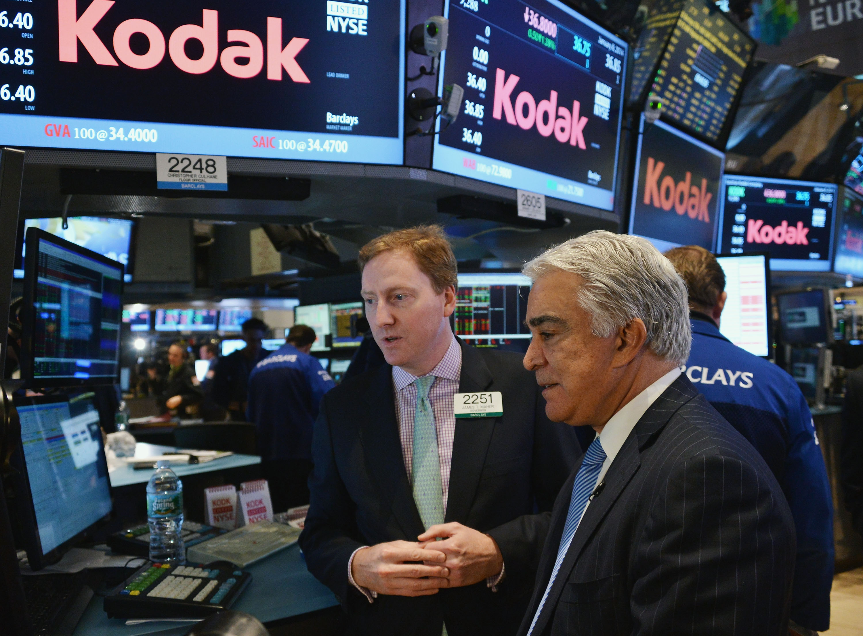 Eastman Kodak Company Rings The New York Stock Exchange Opening Bell