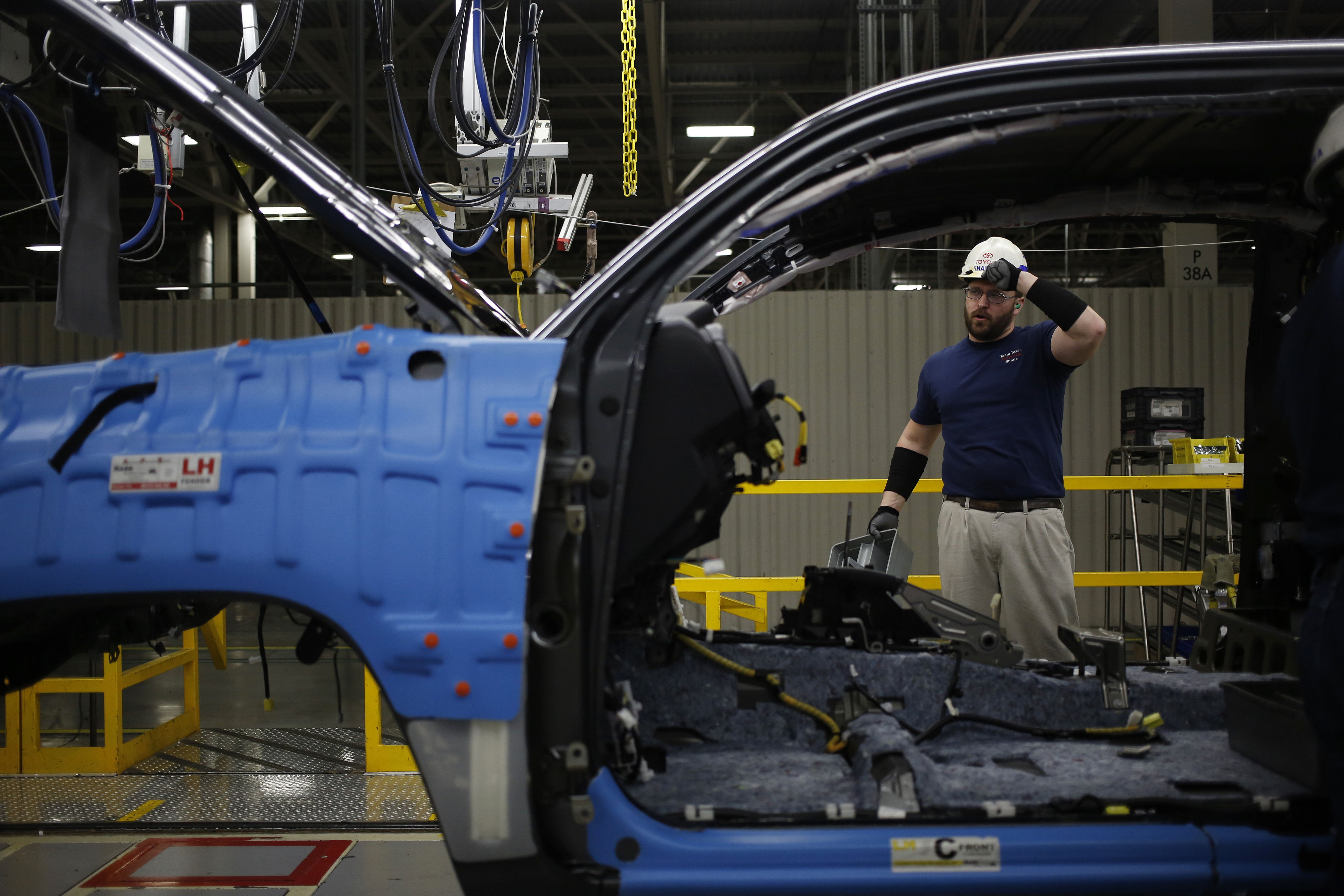 Operations Inside The Toyota Motor Corp. Manufacturing Facility Ahead Of GDP Figures