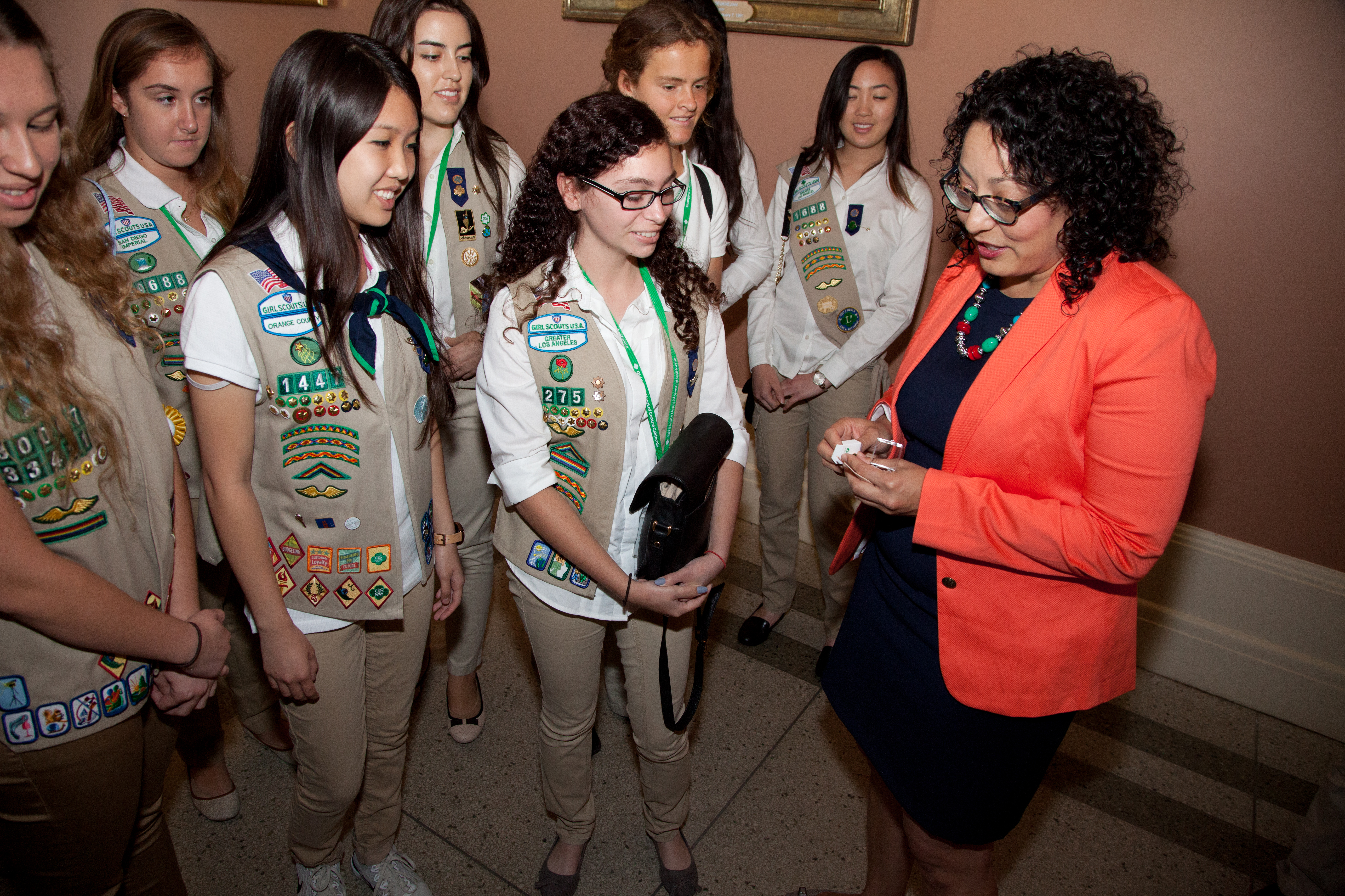 California Legislators Sign Proclamation In Sacramento, California Recognizing 100 Years Of The Gold Award, The Highest Rank In Girl Scouting