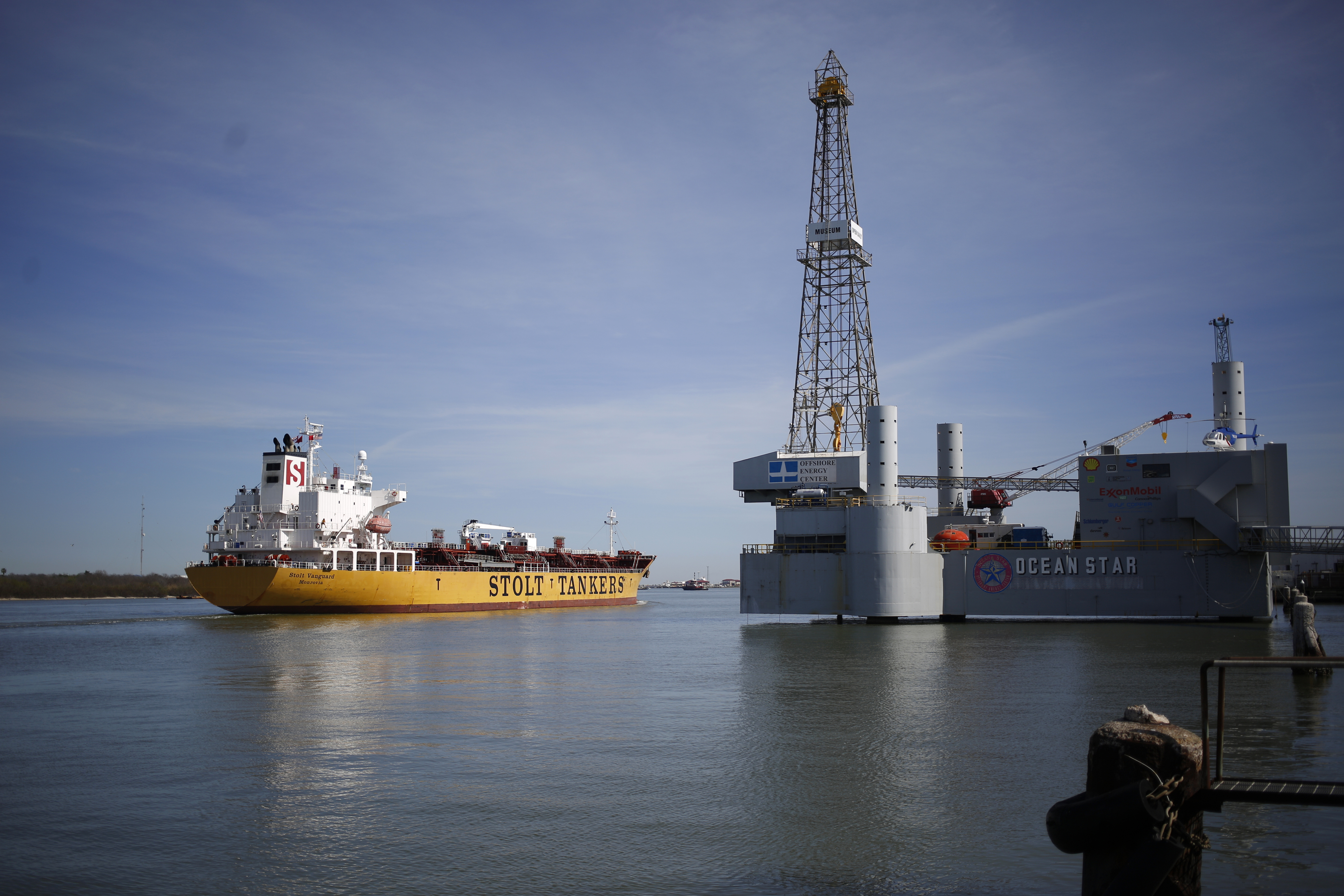 Operations At The Port Of Galveston Ahead Of Trade Balance Figures