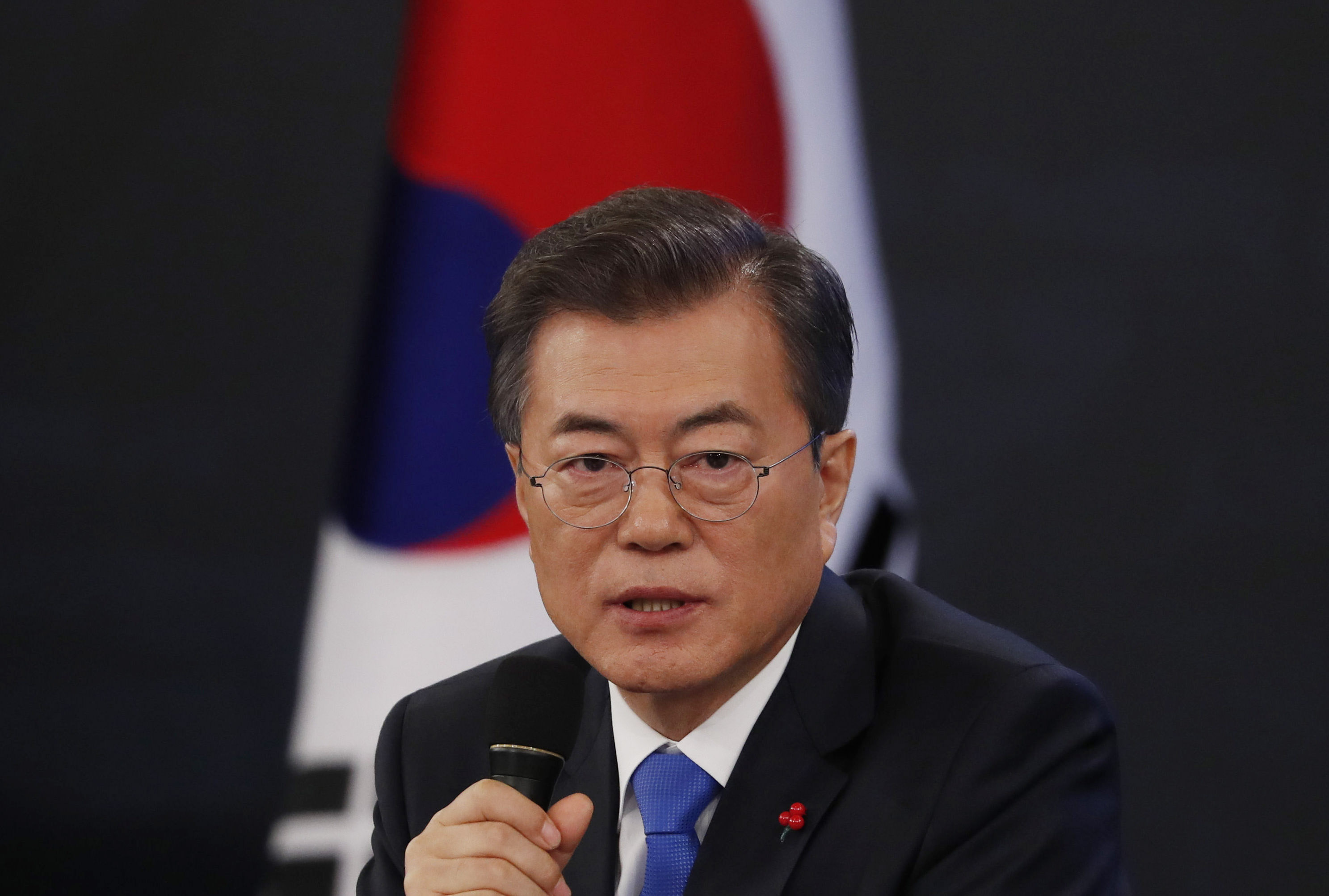 South Korean President Moon Jae-In Holds New Year Press Conference