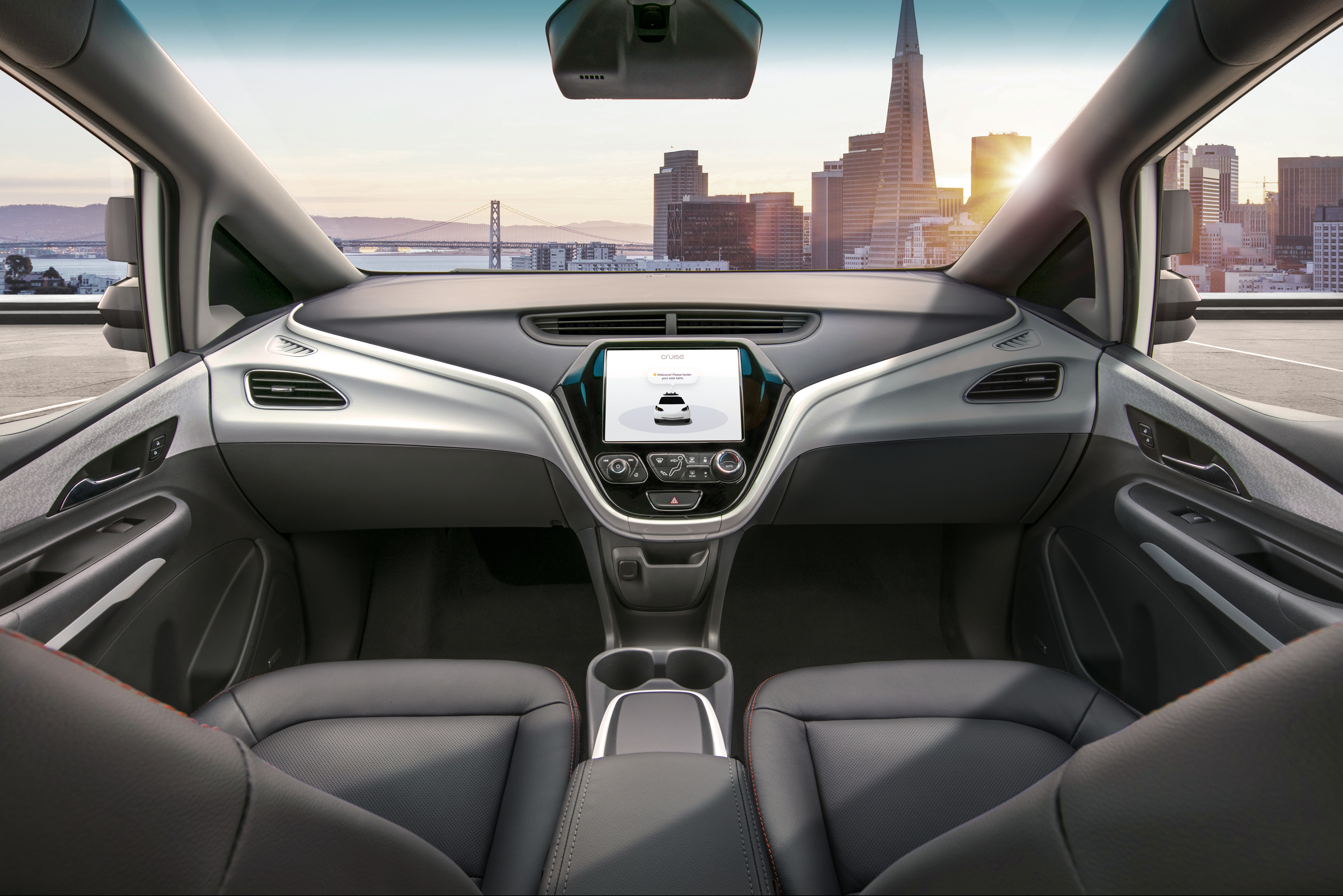 GM revealed the first image of its fourth generation autonomous vehicle called the Cruise AV.
