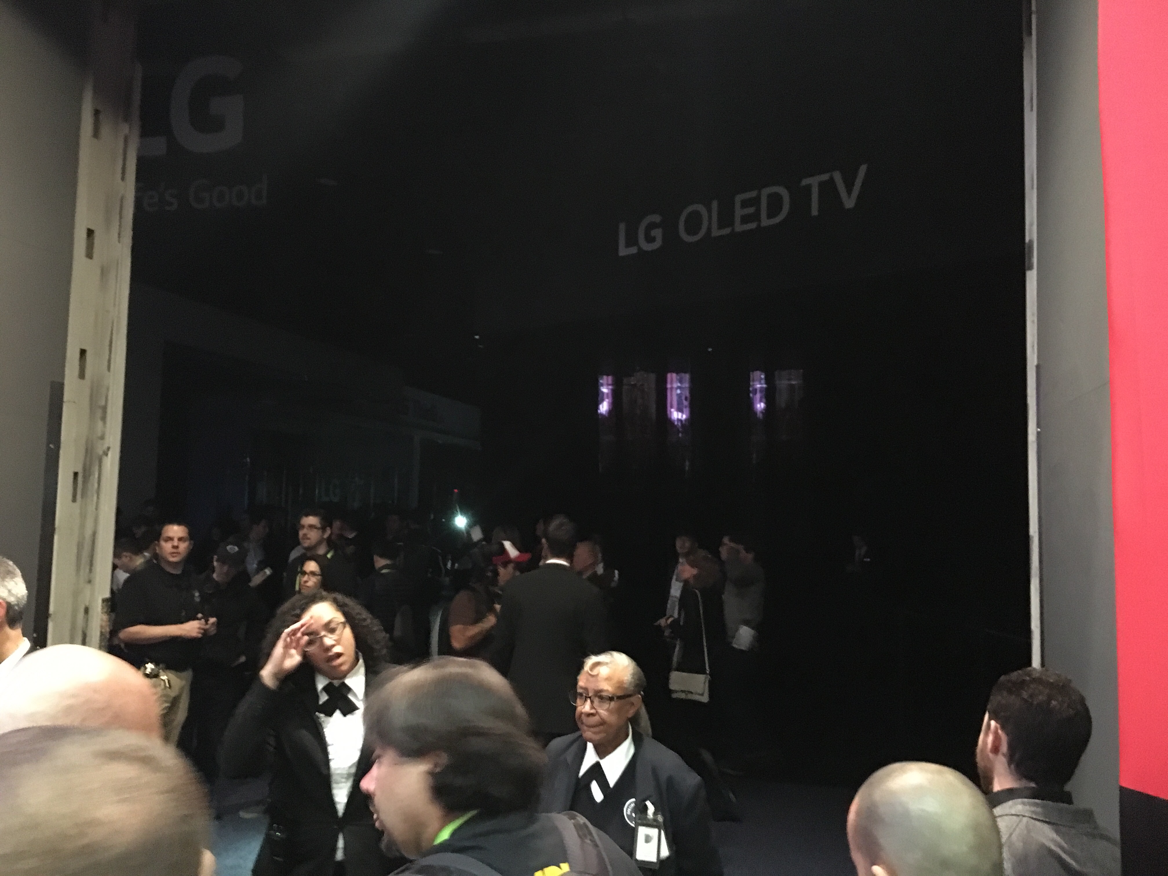 A power outage in the Central Hall of the Las Vegas Convention Center during CES.