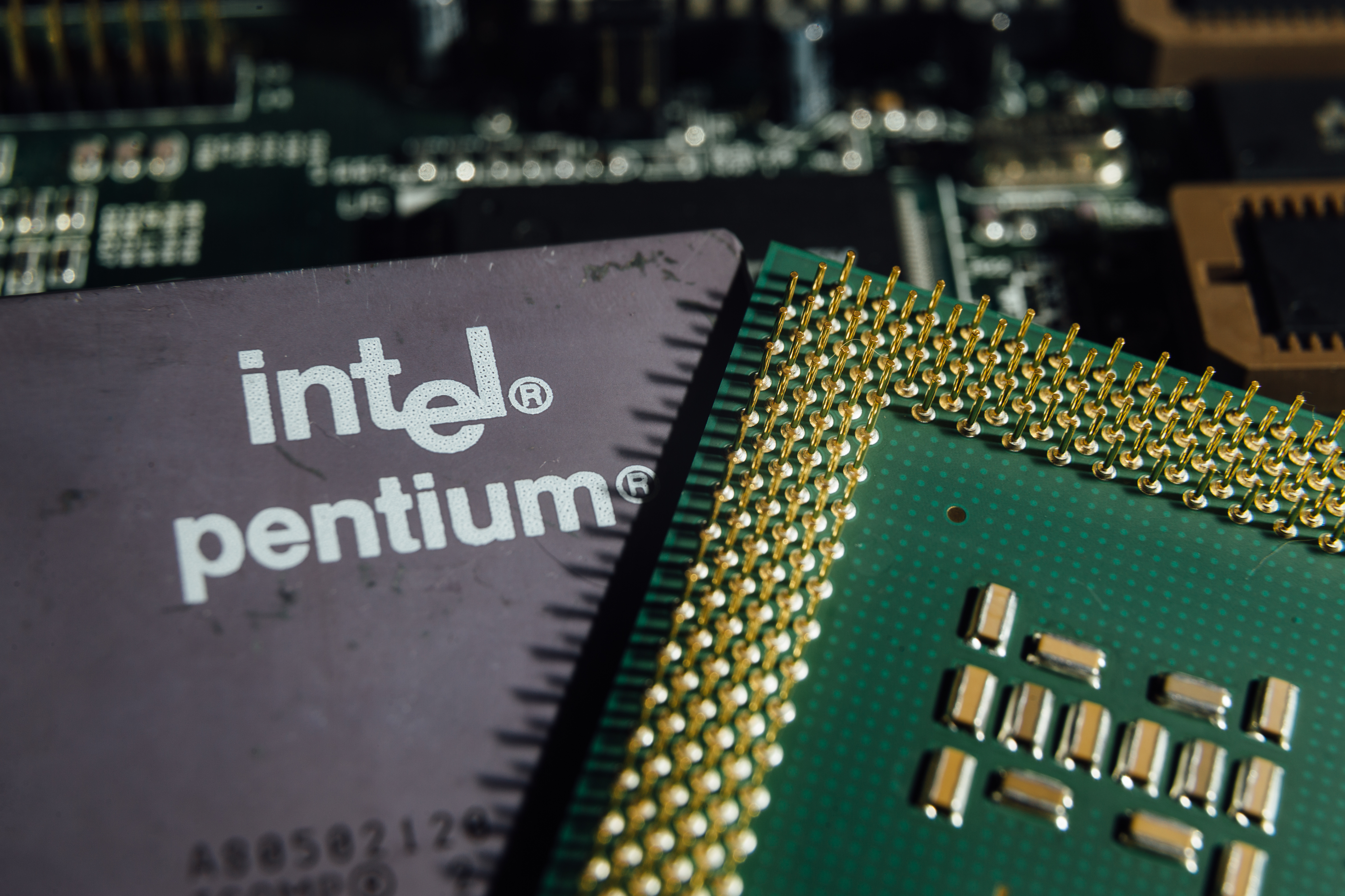 An Intel Pentium chip after the company revealed information about a major security flaw in it.