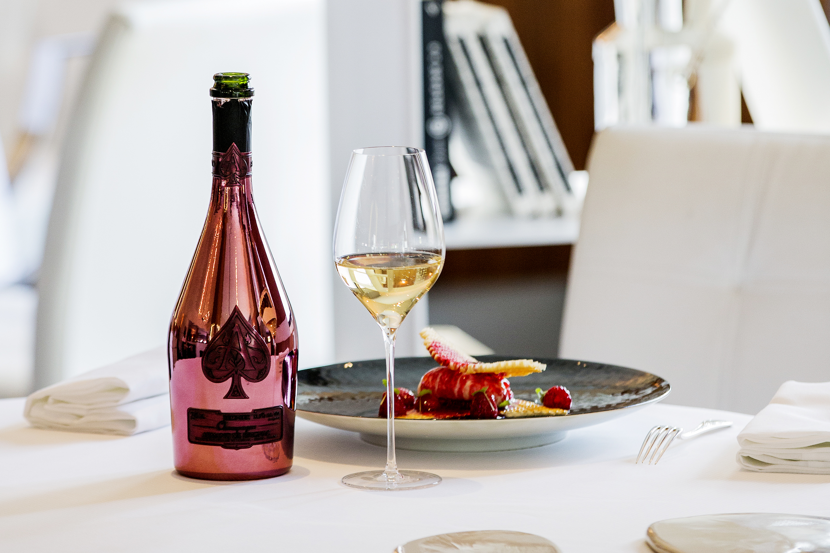 Armand de Brignac paired with a menu by Michelin-starred chef Arnaud Lallement.