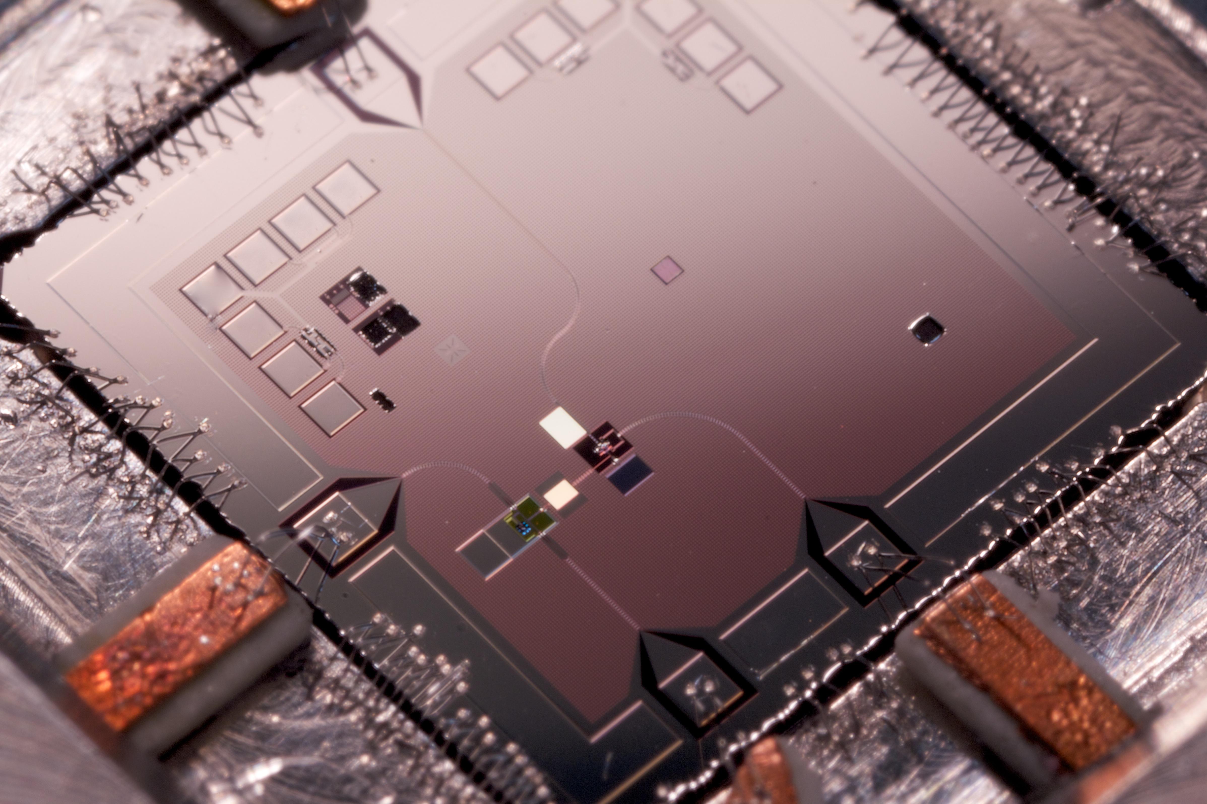 A close-up photo of a quantum machine.