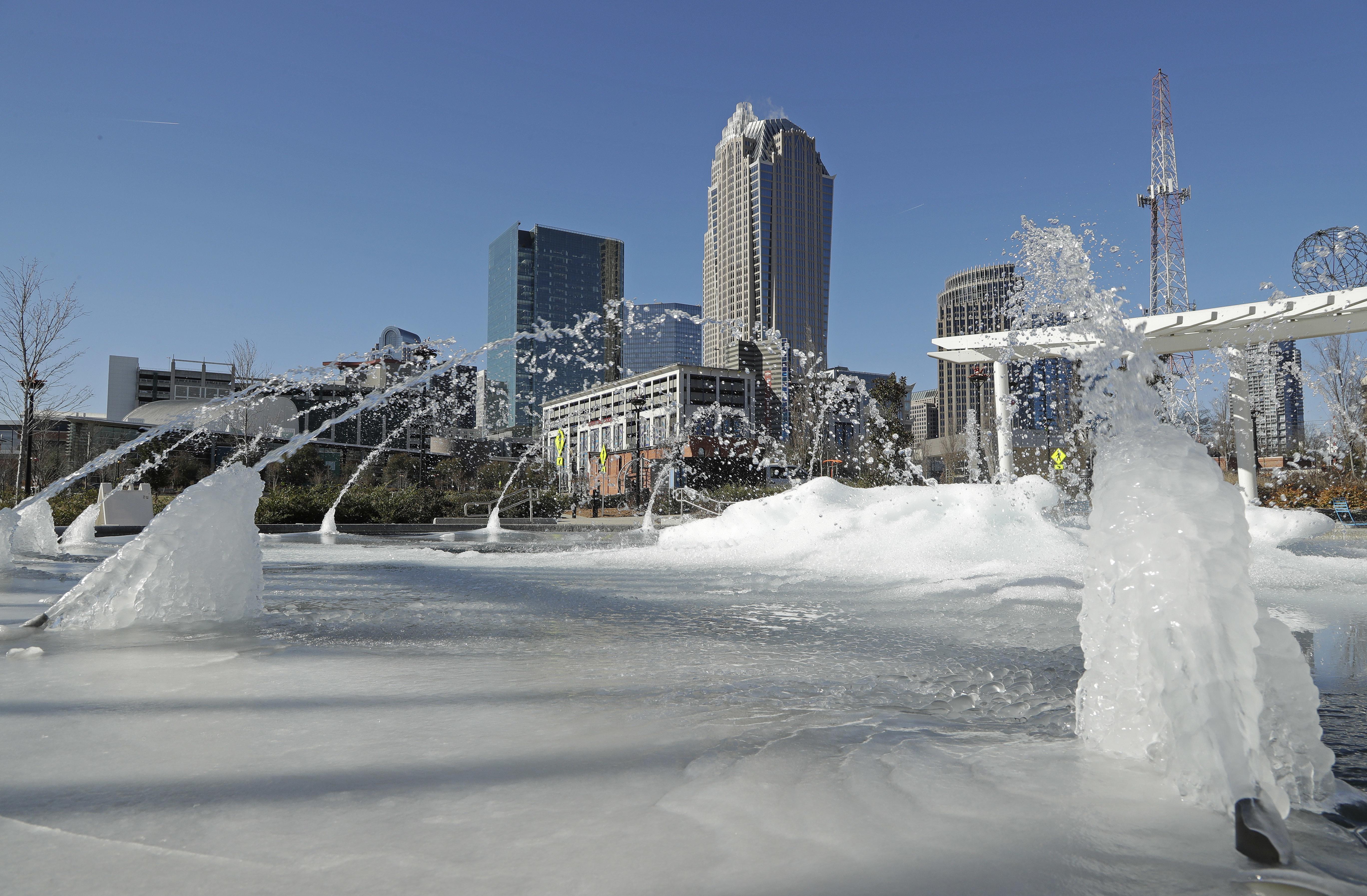 Deep Freeze Deep South, Charlotte, USA - 02 Jan 2018