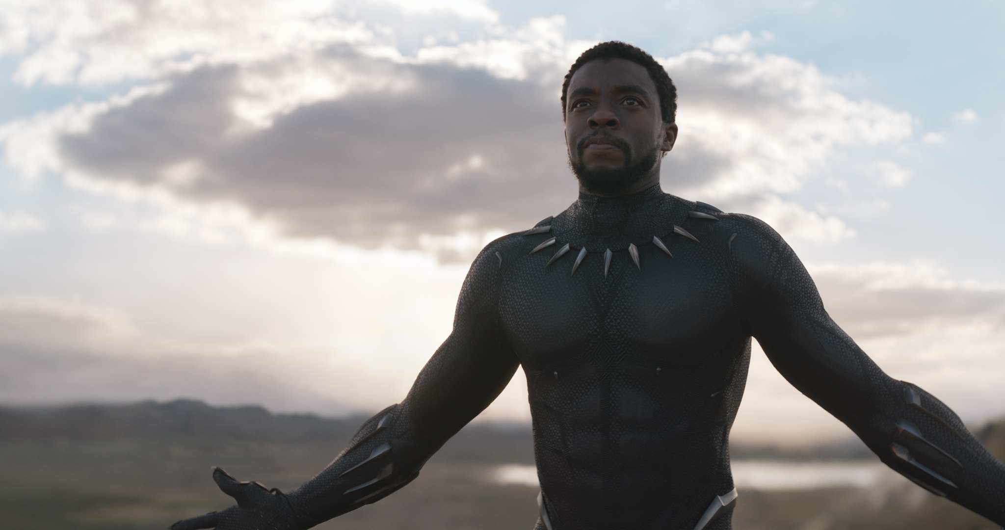 Chadwick Boseman as Black Panther/T'Challa in the new film from Marvel Studios.