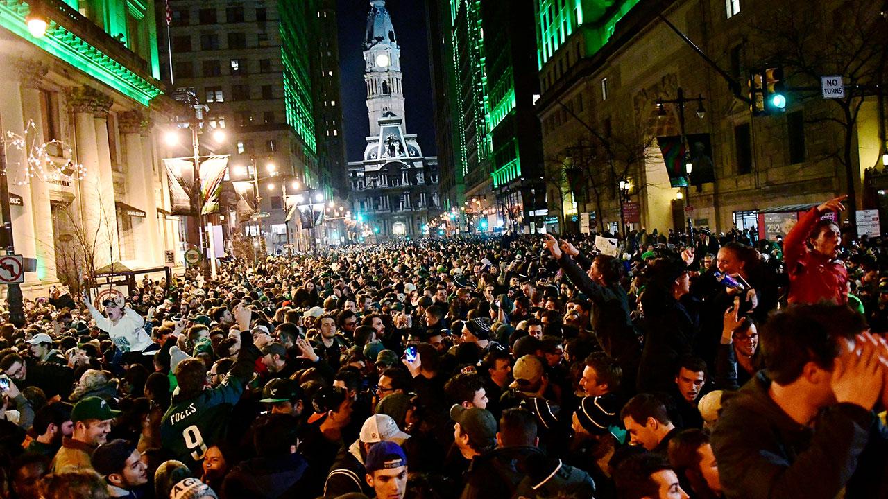 Philadelphia lost its mind following a Super Bowl win.