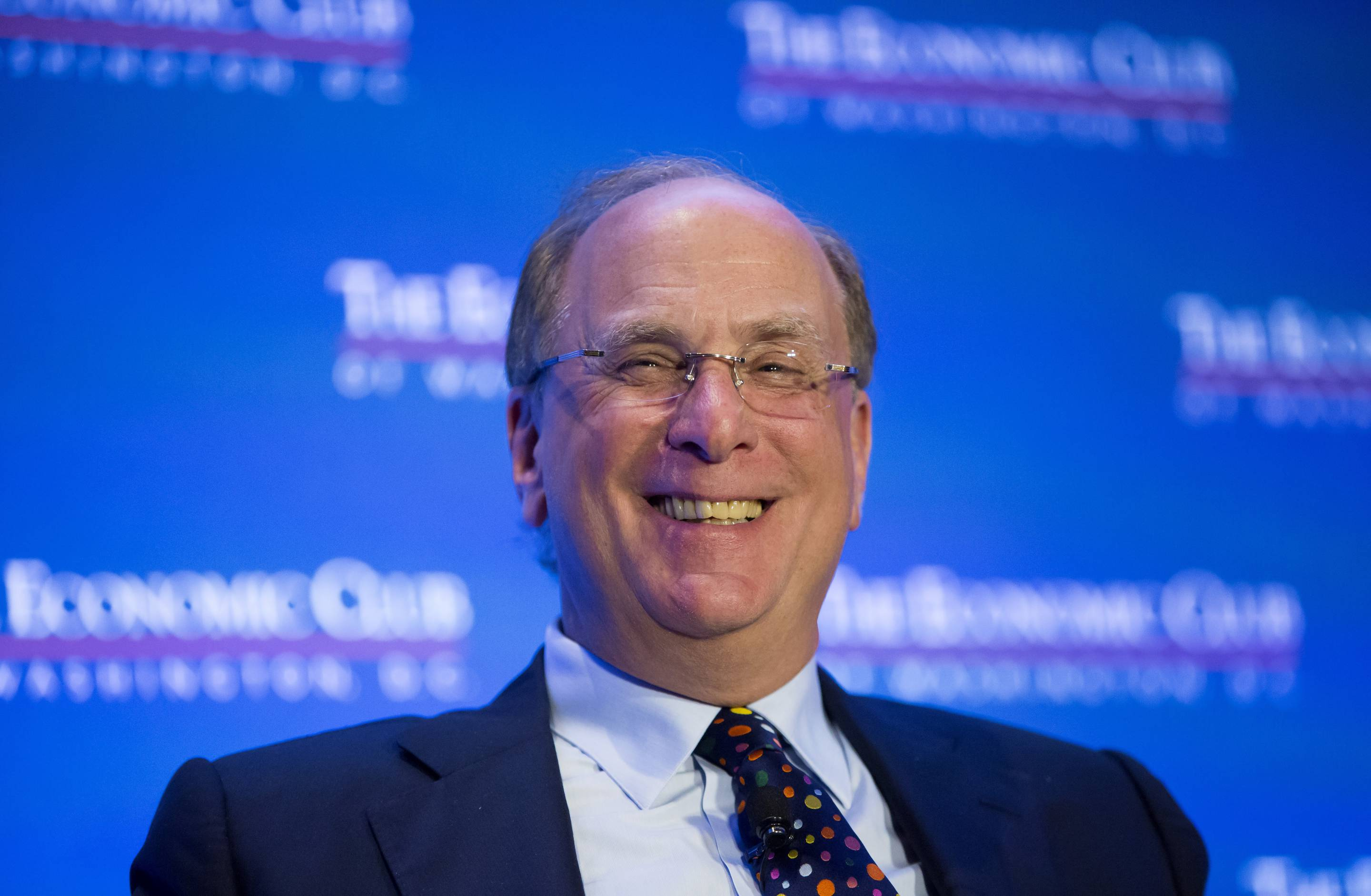 BlackRock Inc. Chairman And Chief Executive Officer Laurence Fink Speaks To Economic Club Of Washington D.C.