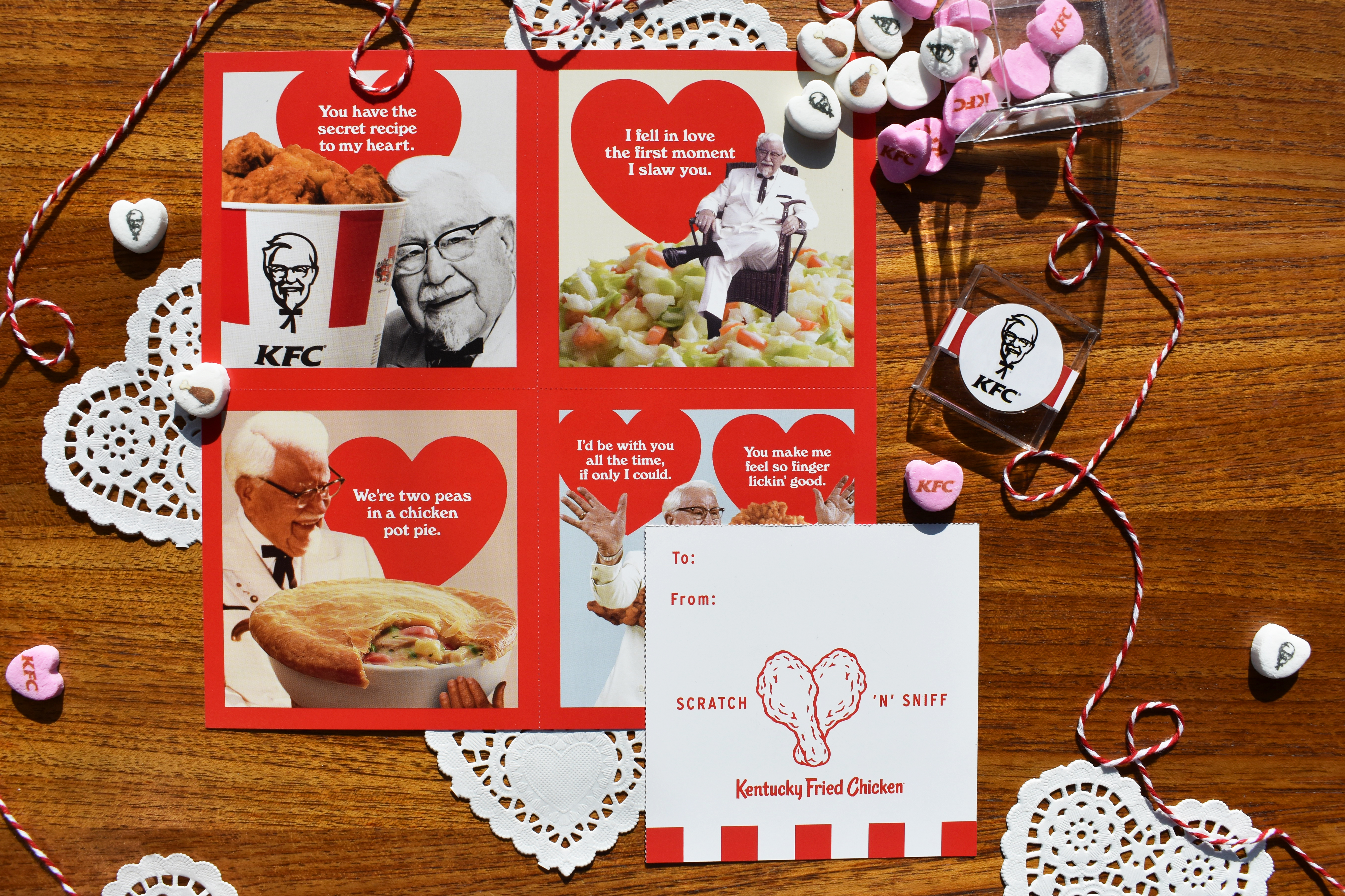 KFC: Scratch 'N' Sniff Valentines Smell Like Fried Chicken | Fortune