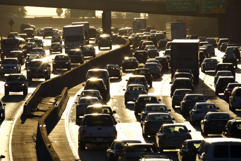 Los Angeles Rush Hour Traffic