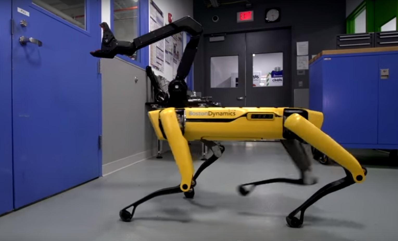 Boston Dynamics' SpotMini robot.