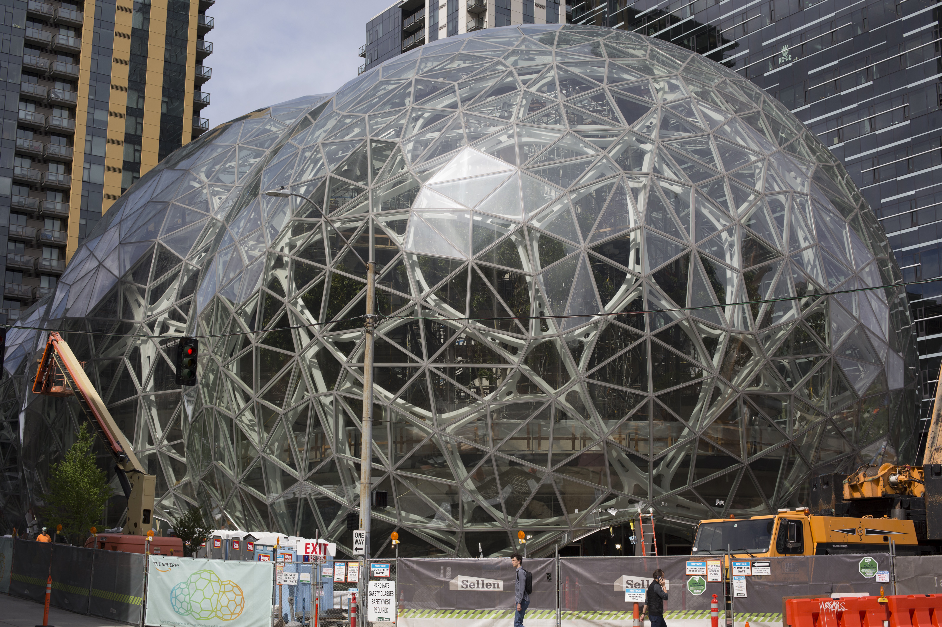 Amazon corporate headquarters in Seattle. The tech giants in America are growing into monopolies.