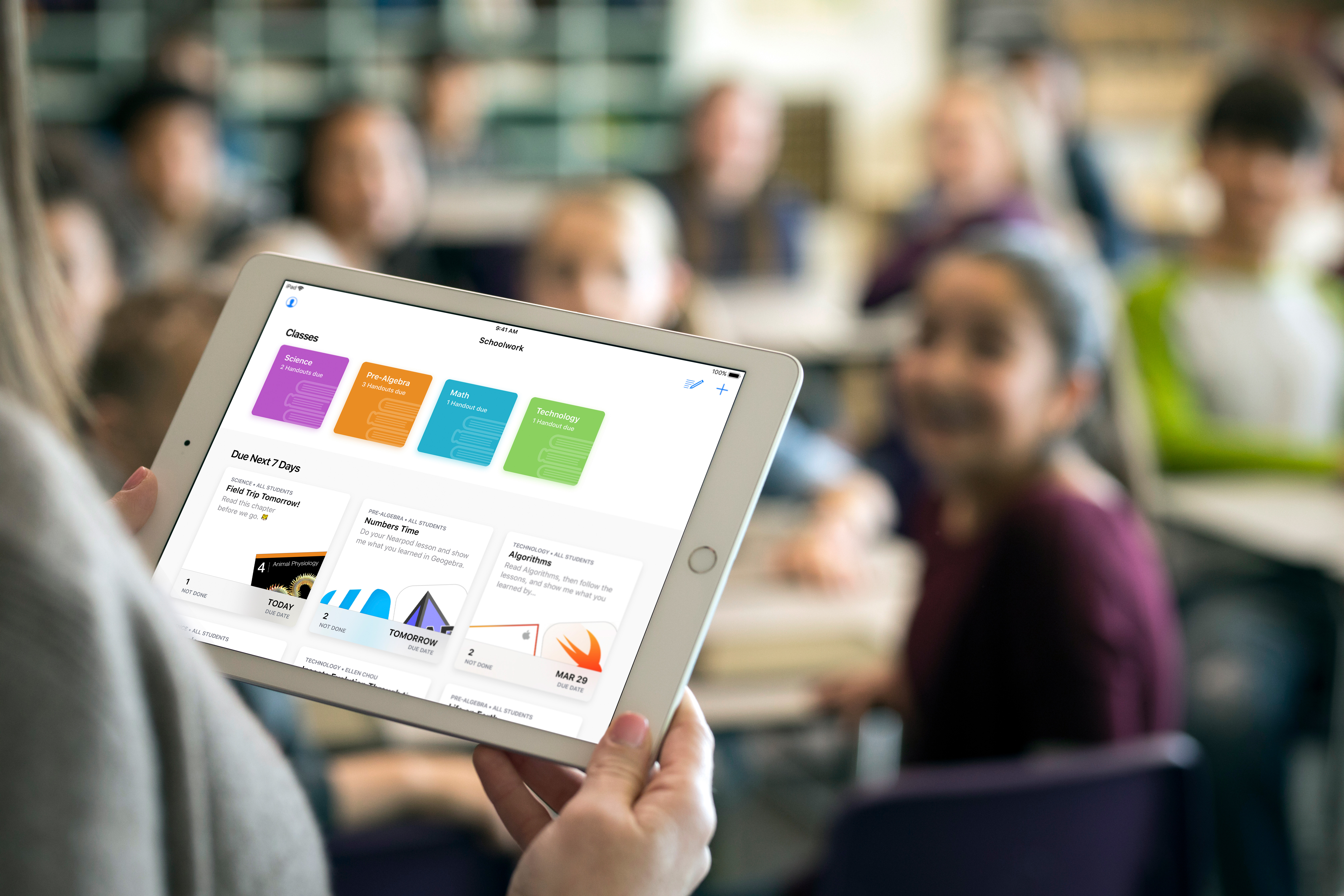 Apple's Education event focused on the classroom and how the iPad plays a role with students and teachers.