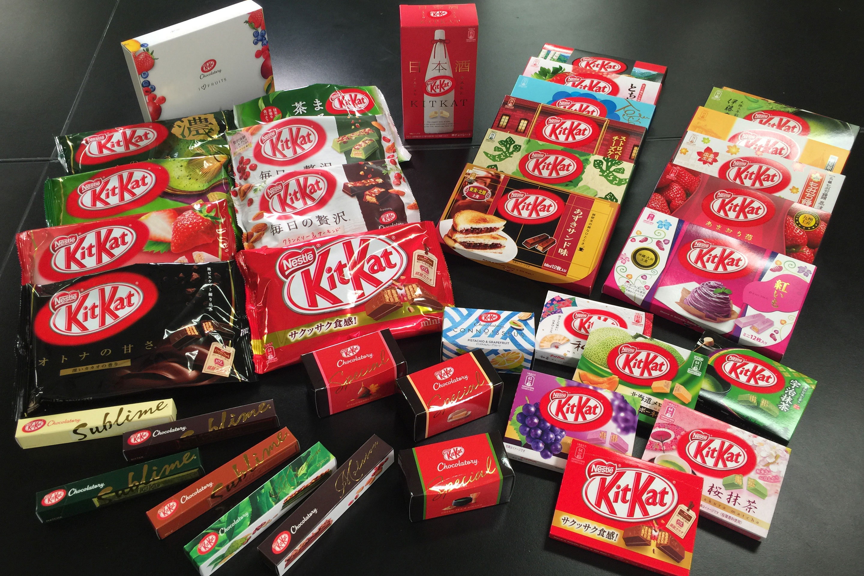 There are about 350 flavors of Kit Kat in Japan, where development of a new recipe can take less than a week.