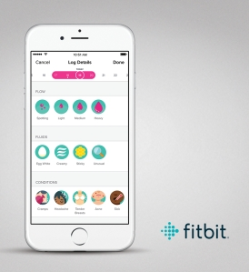 Fitbit's revamped smartwatch software includes a female health app to track periods.