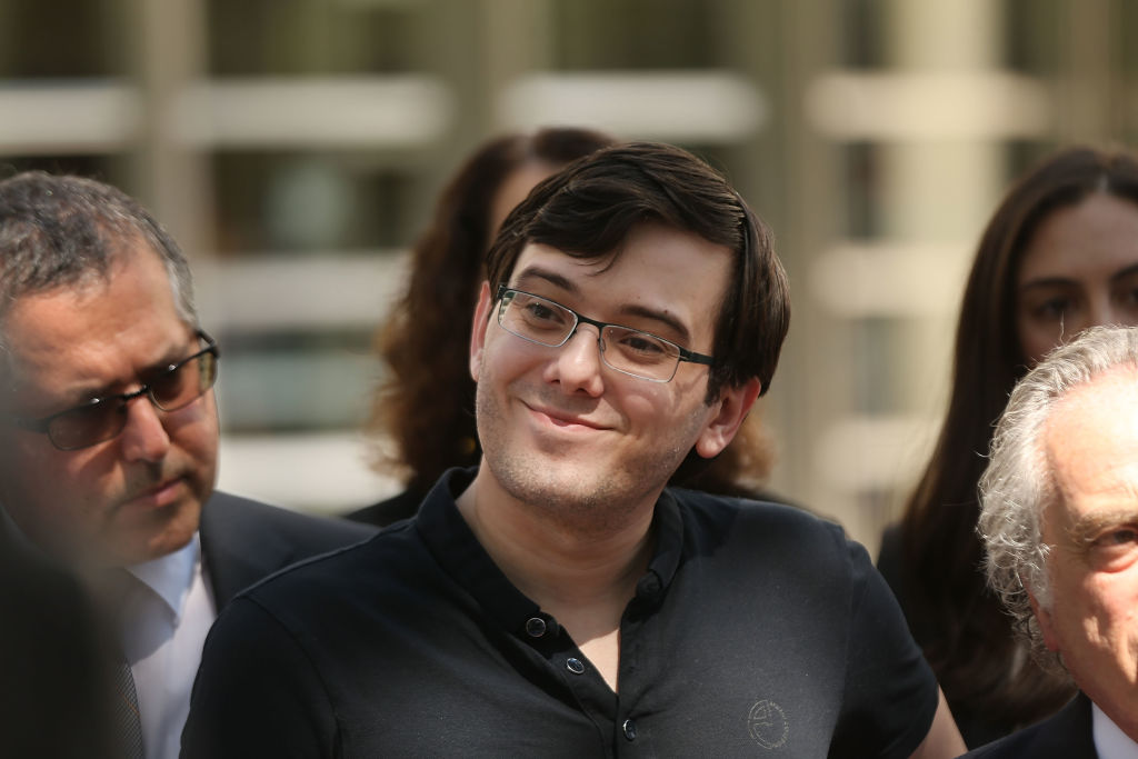 Martin Shkreli, the former pharma CEO, after he was convicted of securities fraud, was sentenced to seven years in jail in March 2018.