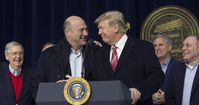 President Trump with Gary Cohn
