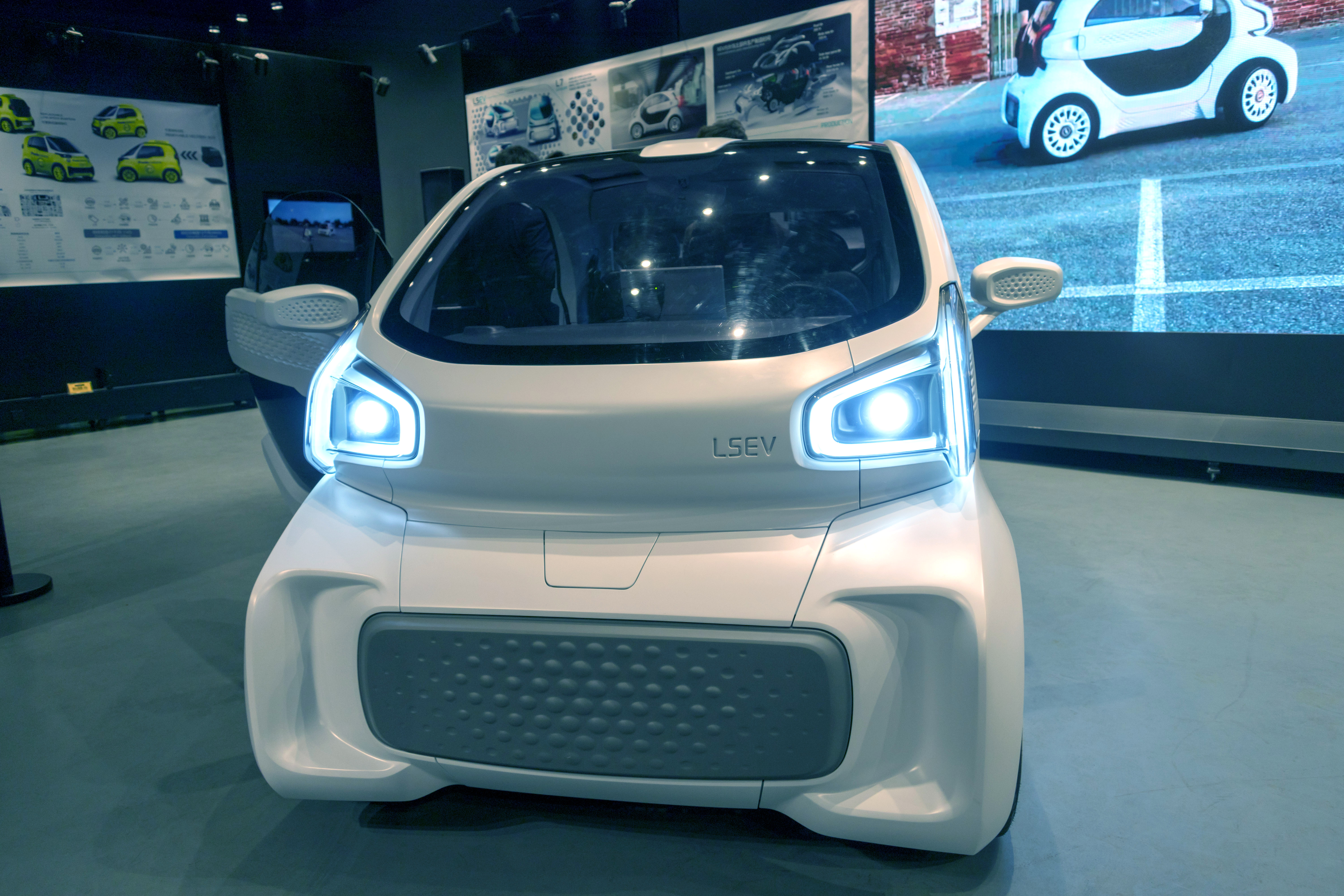 3D-printed Electric Car LSEV on display in Shanghai