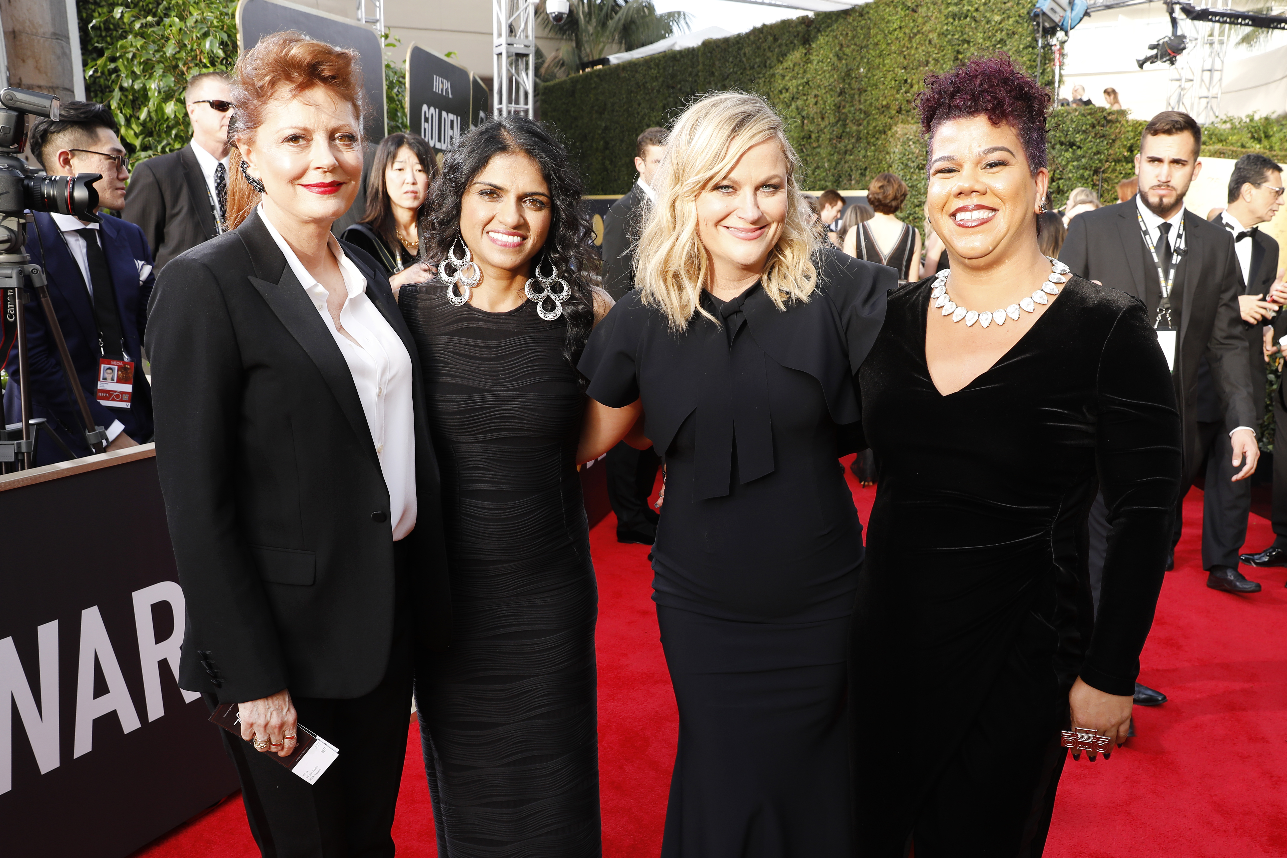 Actors and activists support the #MeToo/Time's Up movements at the Golden Globes. The 2018 Oscars are this Sunday.