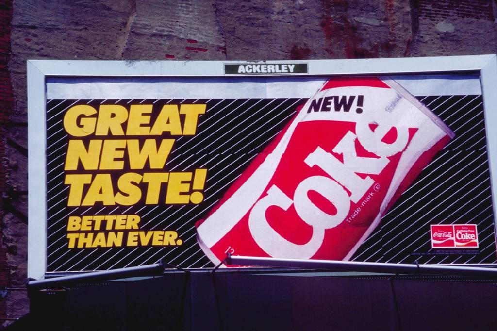 Billboard for the New Coke