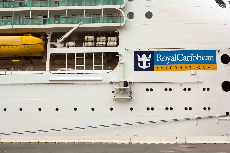 Mariner of the Seas cruise ship docked at Genoa harbor