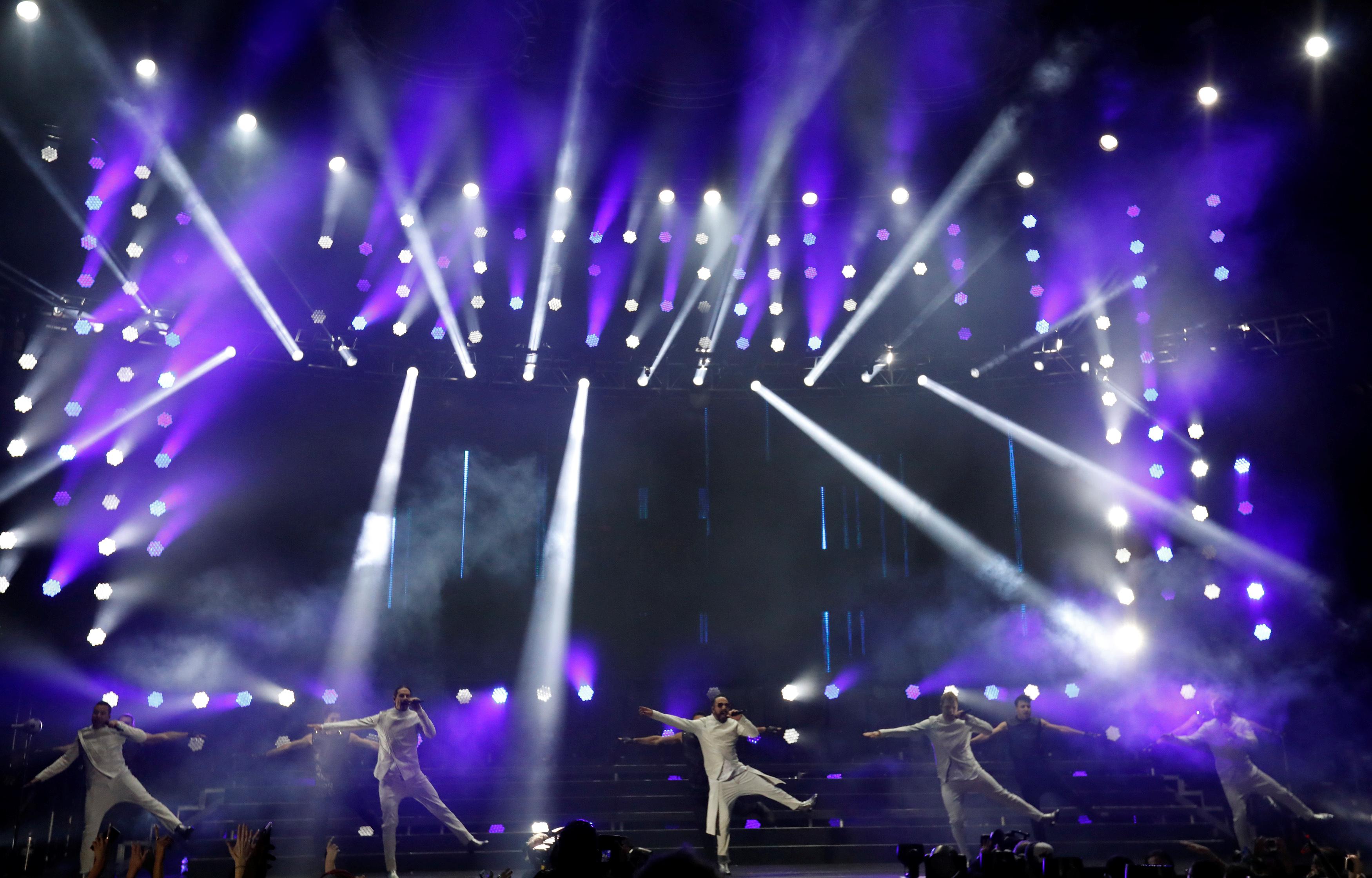 Backstreet Boys performs at Wango Tango concert in Carson