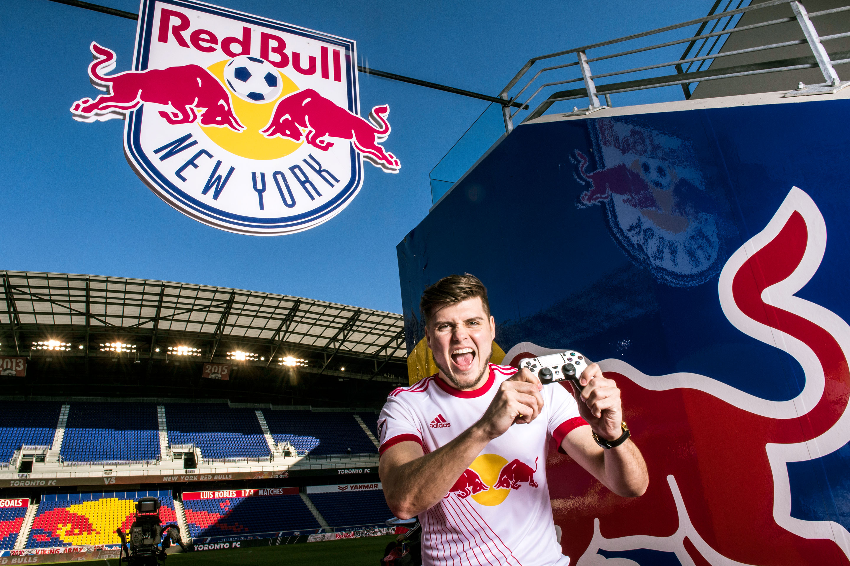 Michael LaBelle in his element at Red Bull Arena in Harrison, N.J.