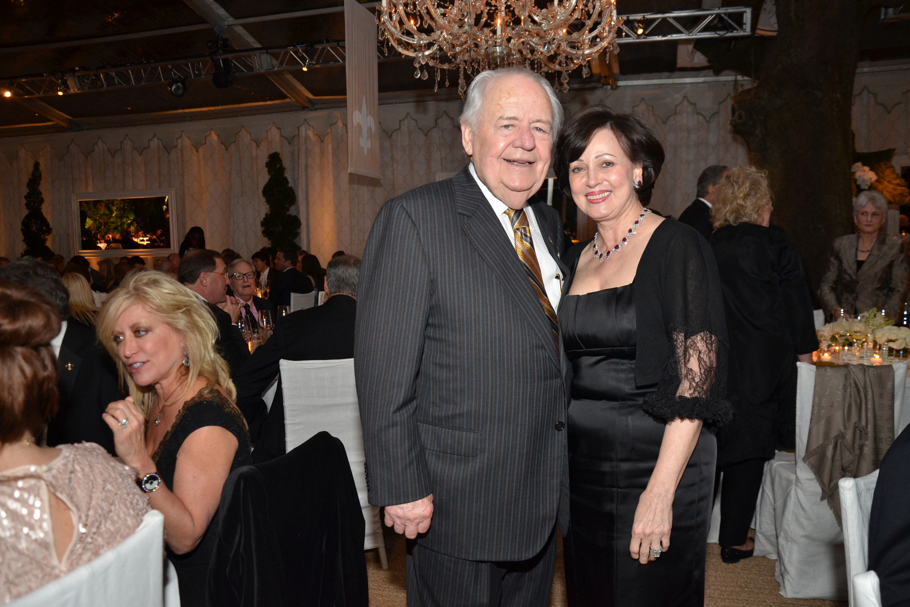 Tom and Gayle Benson at NFL party