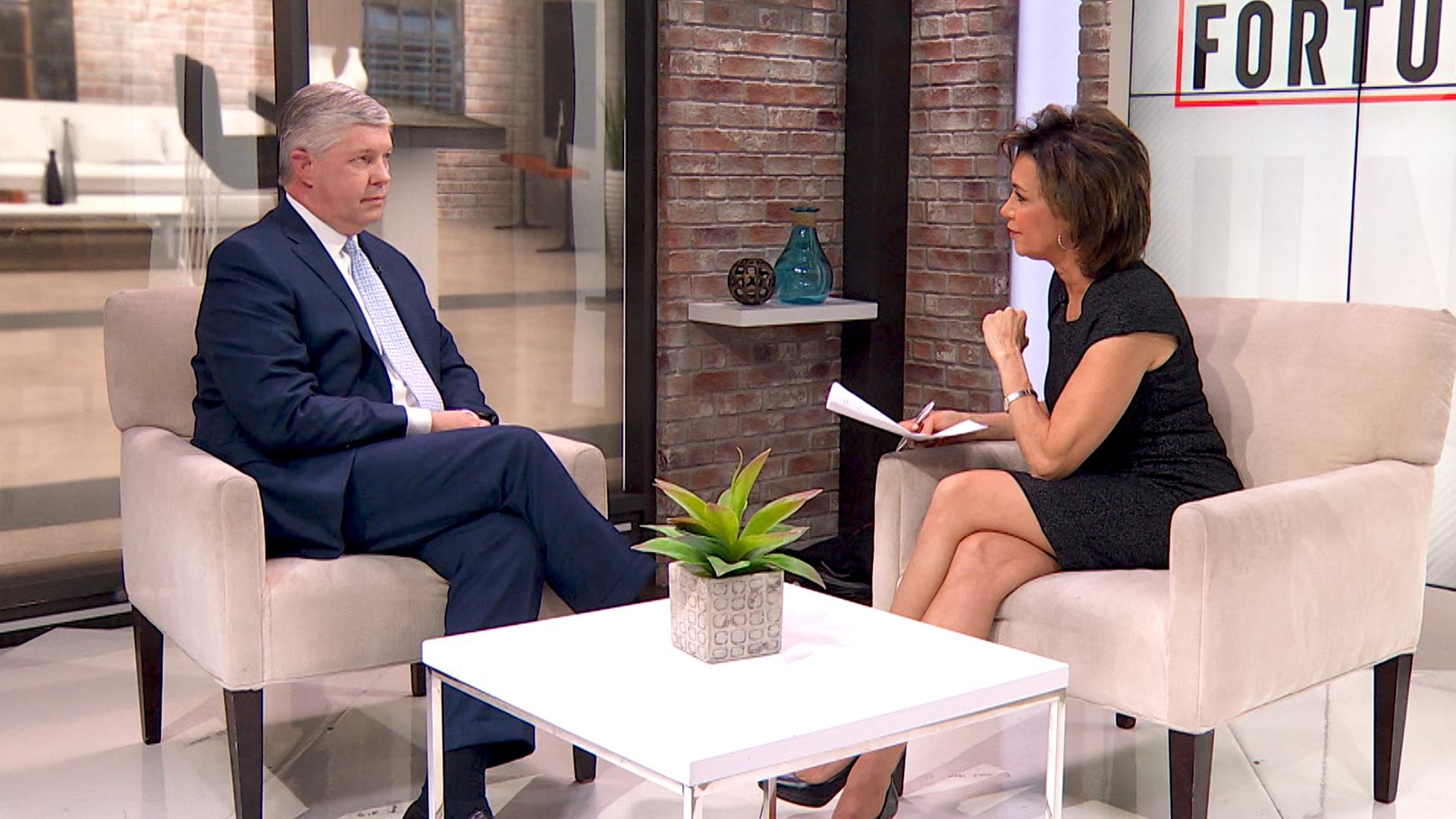 Martin Marietta CEO Ward Nye talks with Fortune's Susie Gharib.