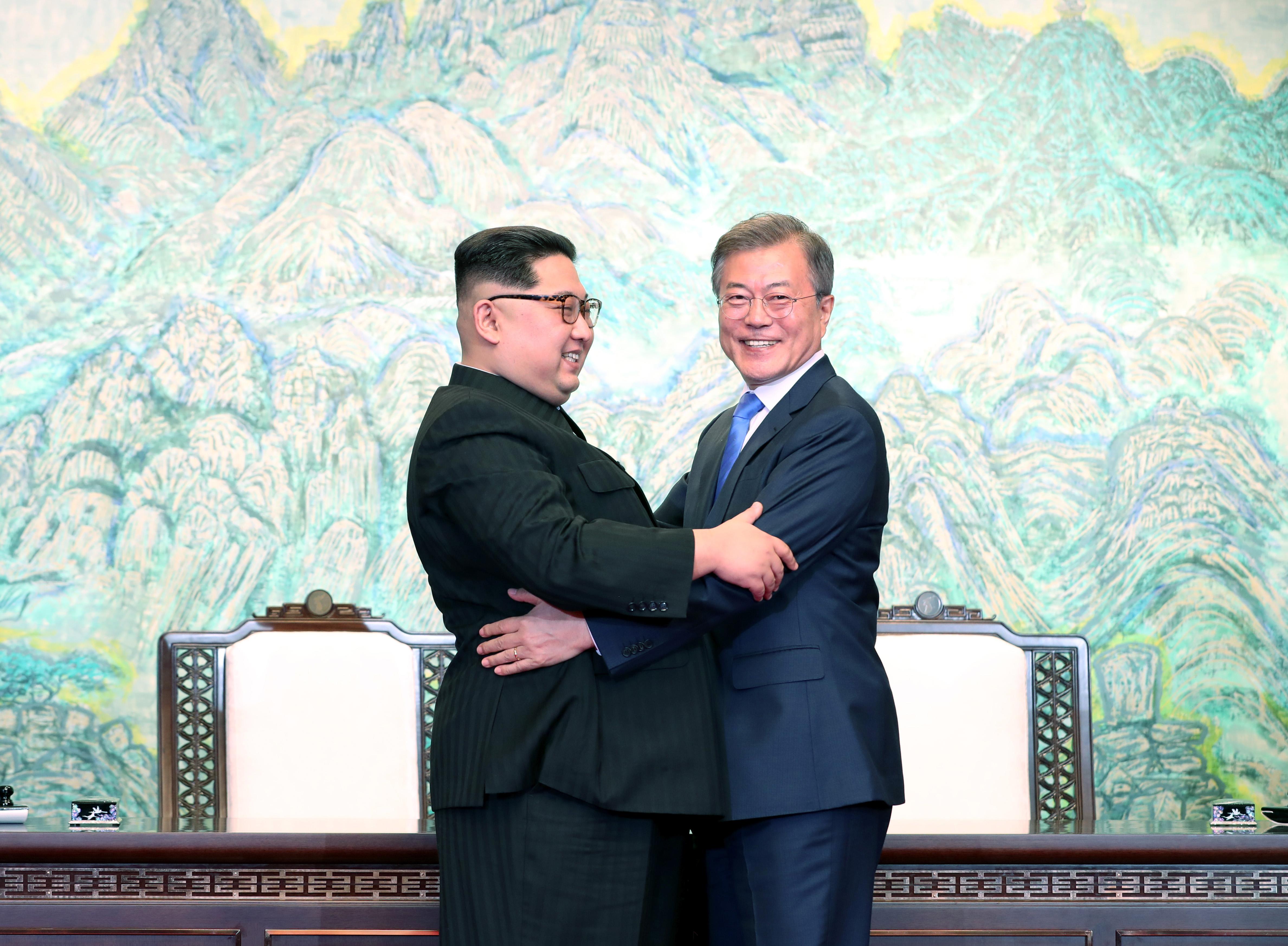 North South Korea Friendly Defense stocks handshake
