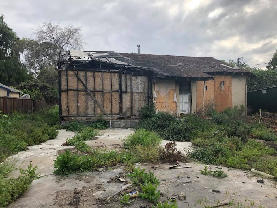 San Jose burned home 800,000 dollars