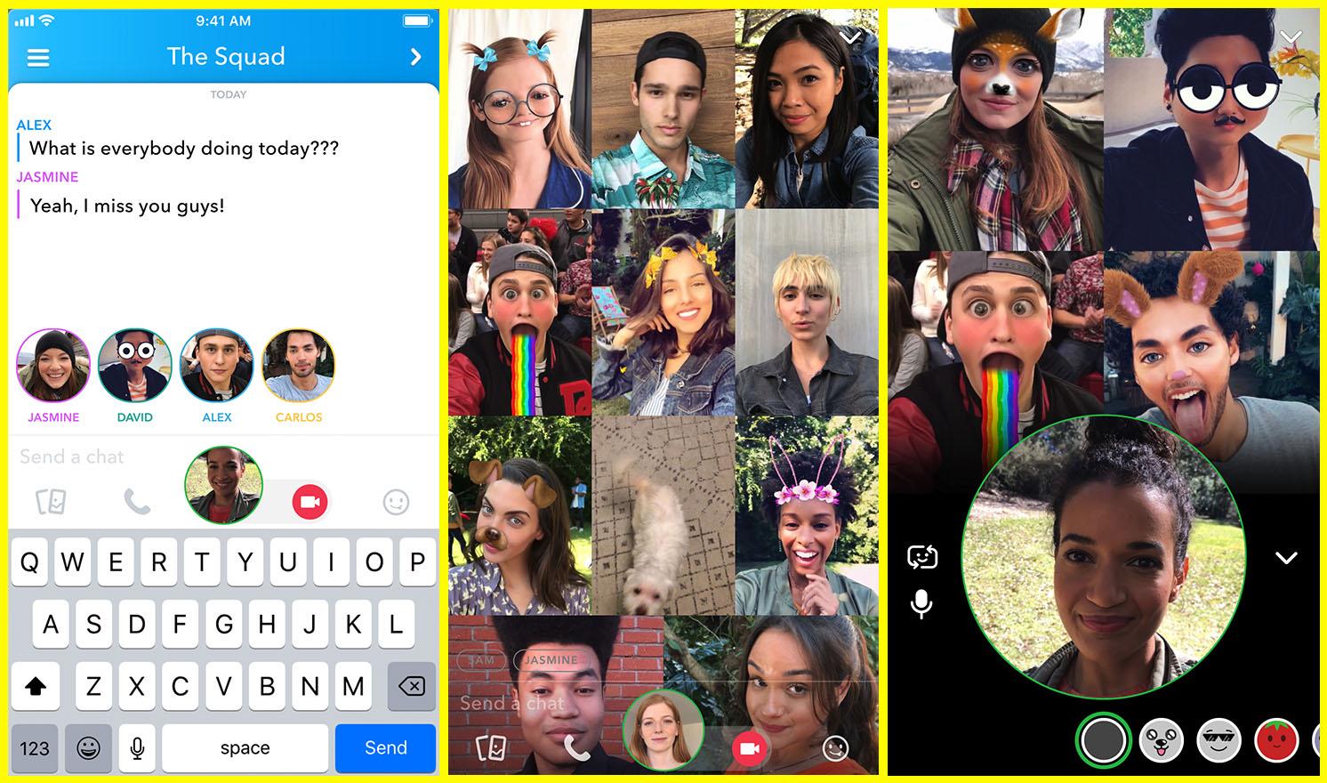 snapchat group calling
