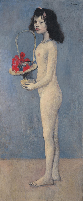 Picasso-Fillette a la corbeille fleurie