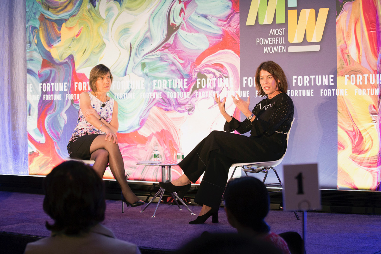 Hudson's Bay Company CEO Helena Foulkes speaks at Fortune's Most Powerful Women Dinner