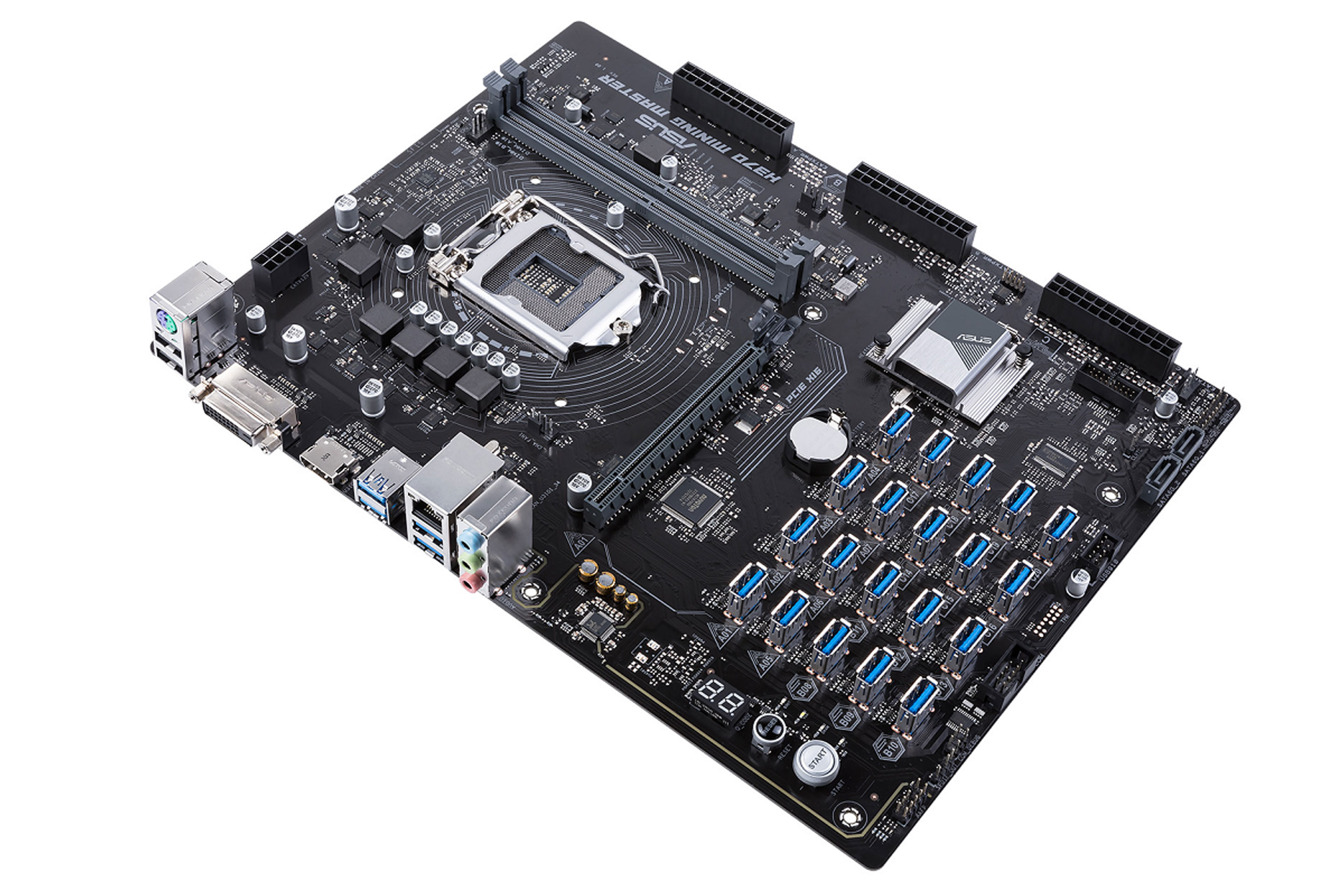cryptocurrency mining computer board picture