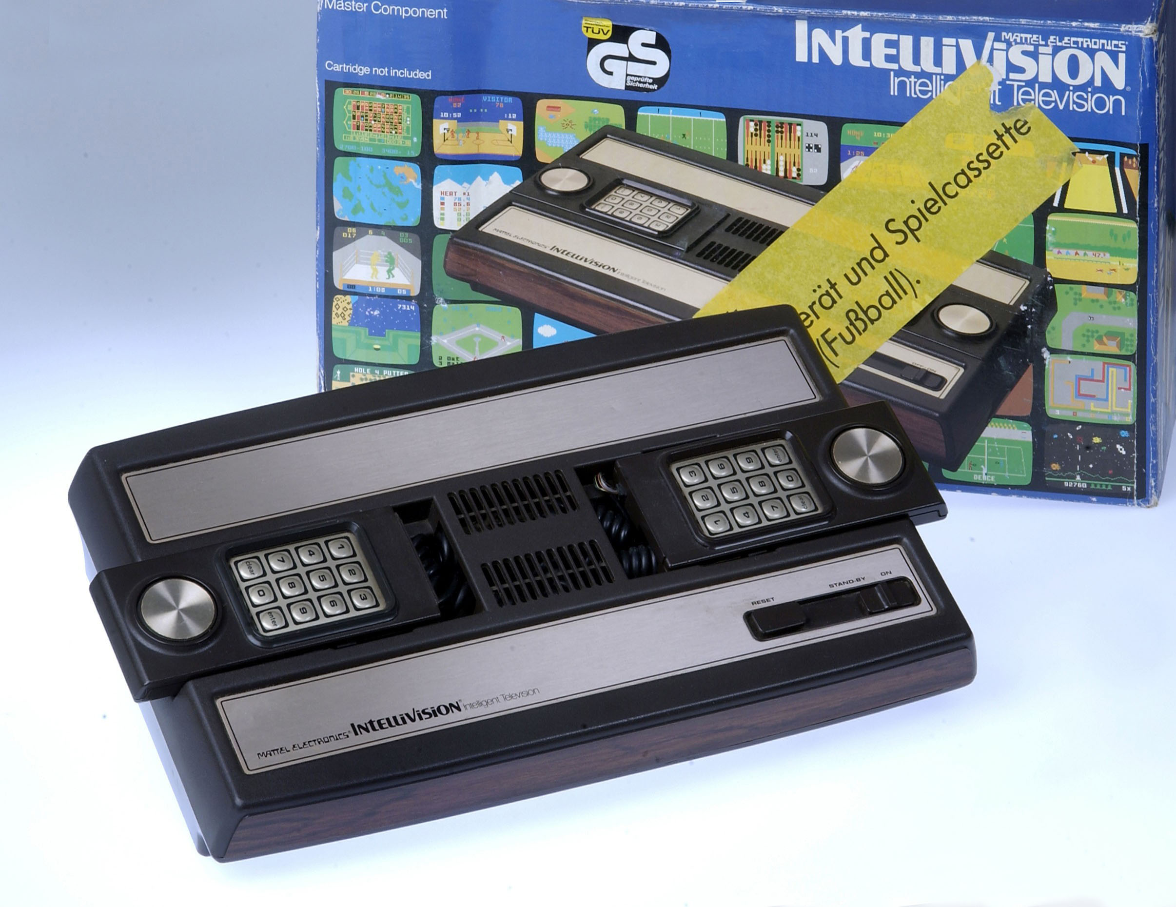"games, video game ""Intellivision"" (Intelligent Television), boxed console, Germany, 1979, 1970s, 70s, 20th century, historic, hi"