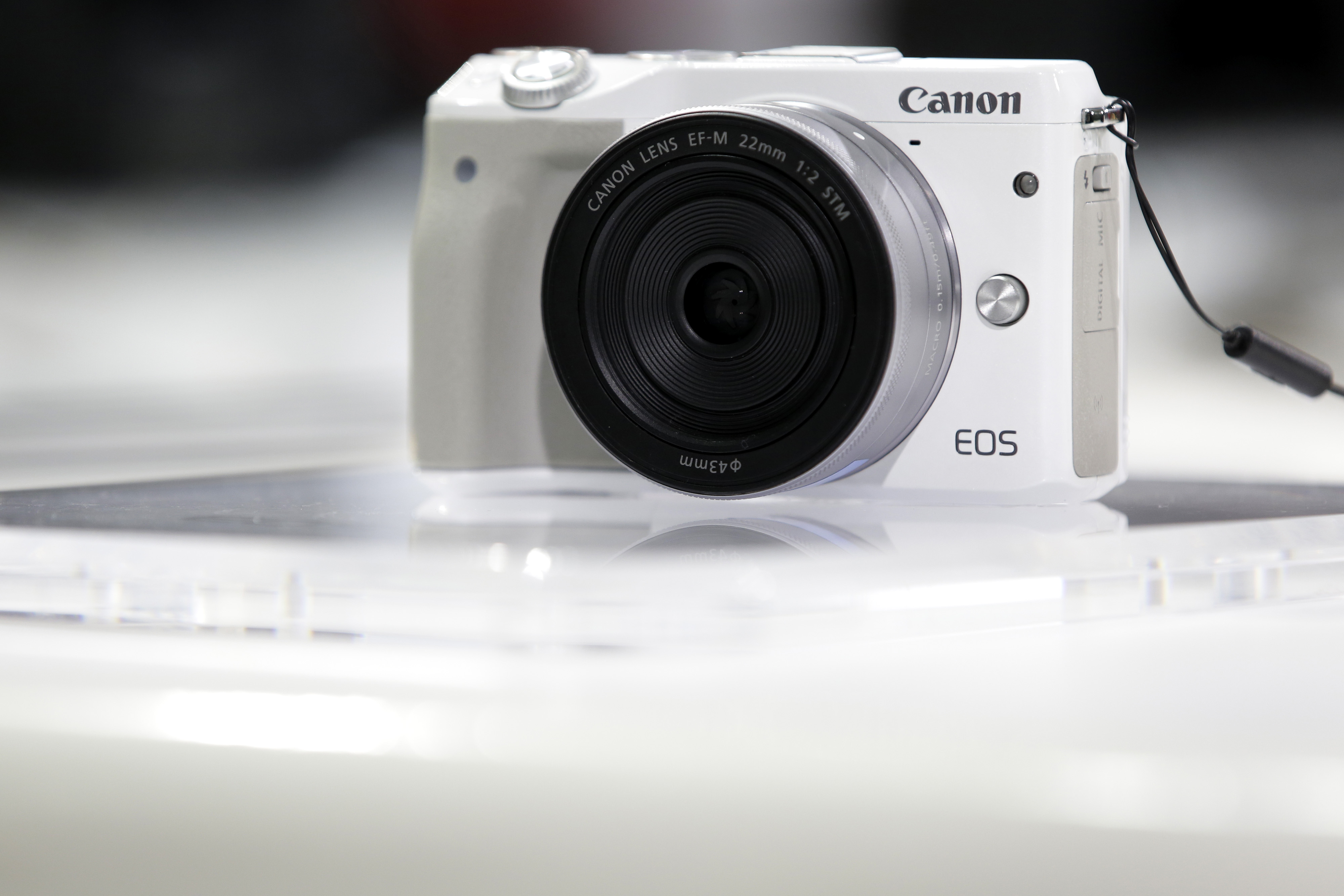 A Canon Inc. EOS M3 mirrorless digital camera