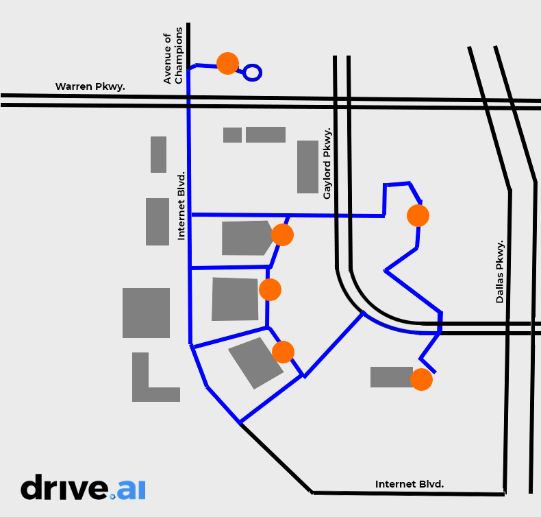Drive.ai route map
