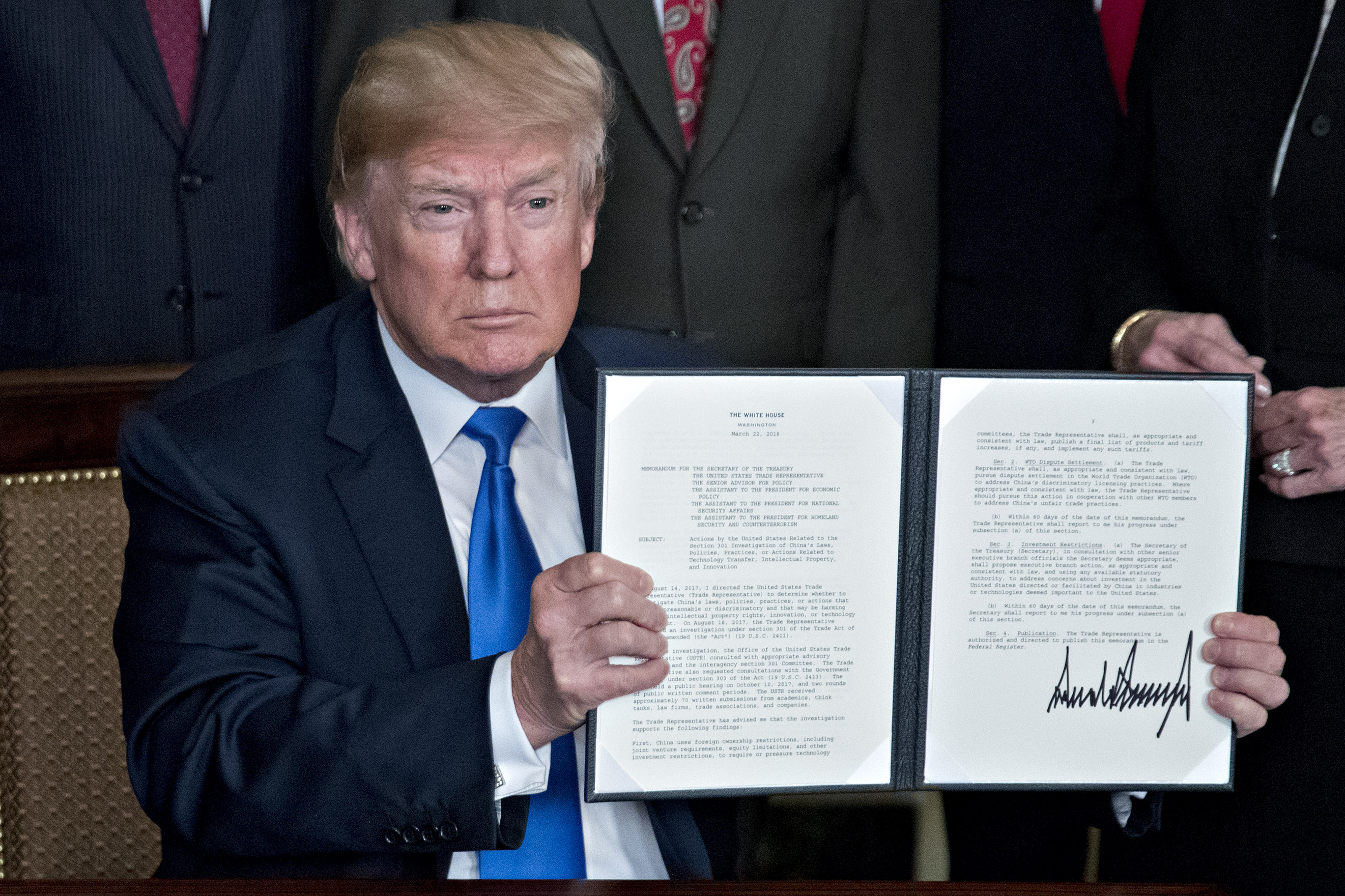 President Trump Signs Presidential Memorandum Targeting China's Economic Aggression