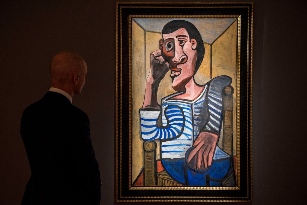 Pablo Picasso's 'Le Marin' on display by Christie's in Hong Kong in March.